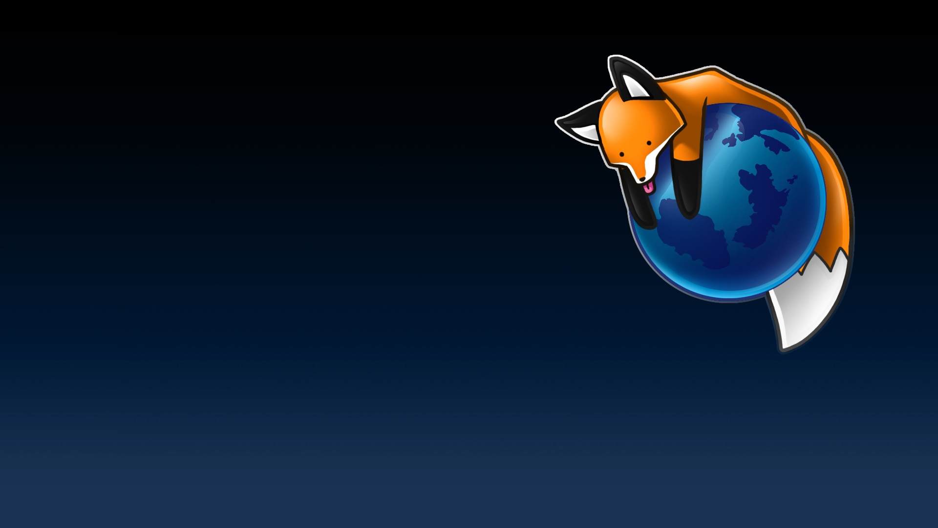 FireFox browser icon on dark blue gradient