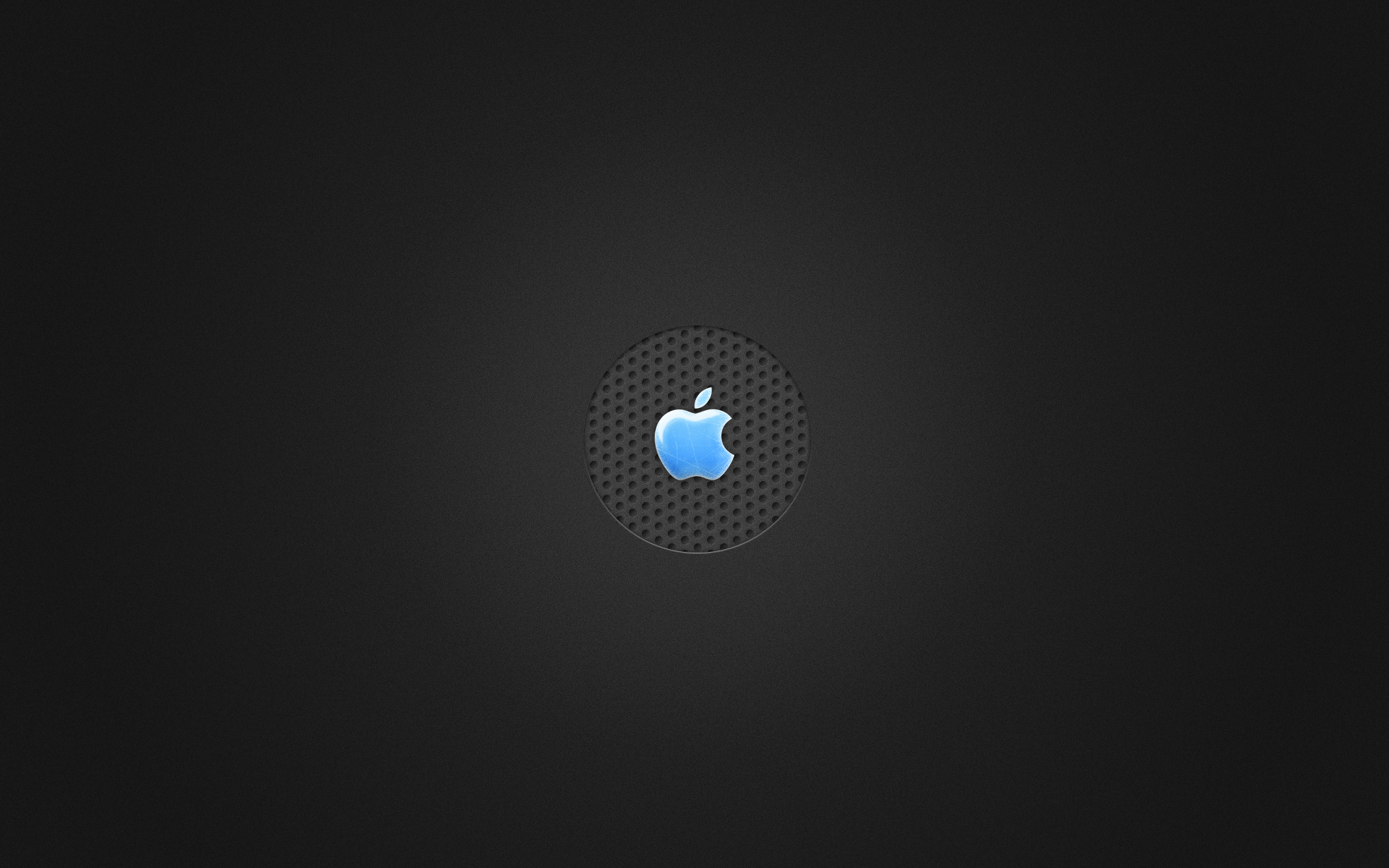 Very stylish wallpaper with blue apple in the center dedicated to the Mac.
