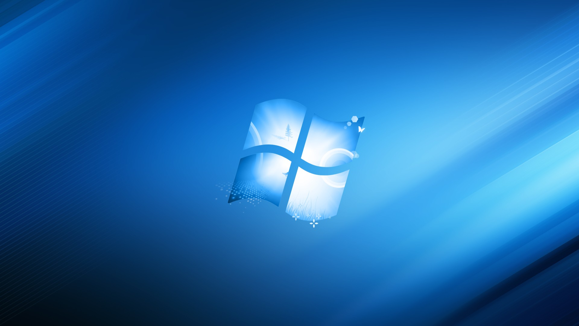 Windows wallpaper made in blue