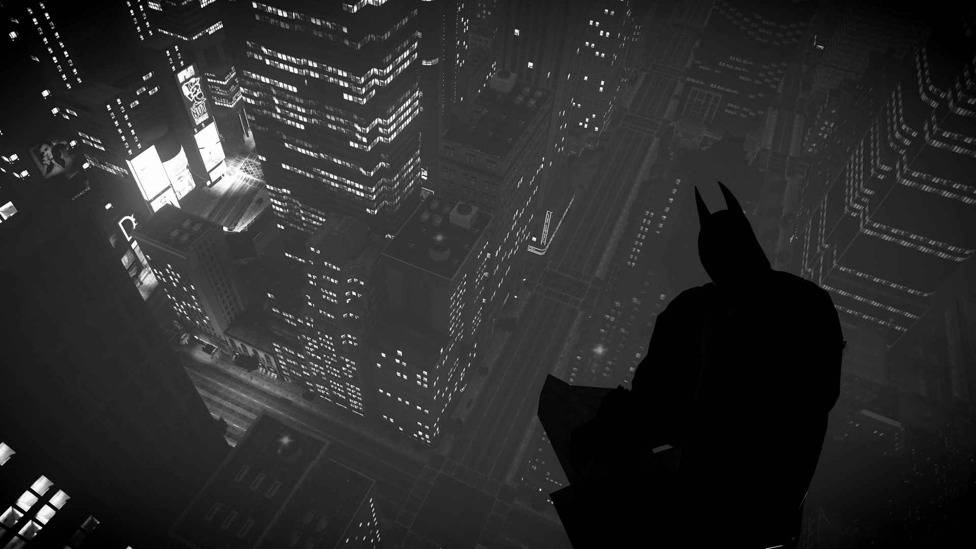 Batman over Gotham City