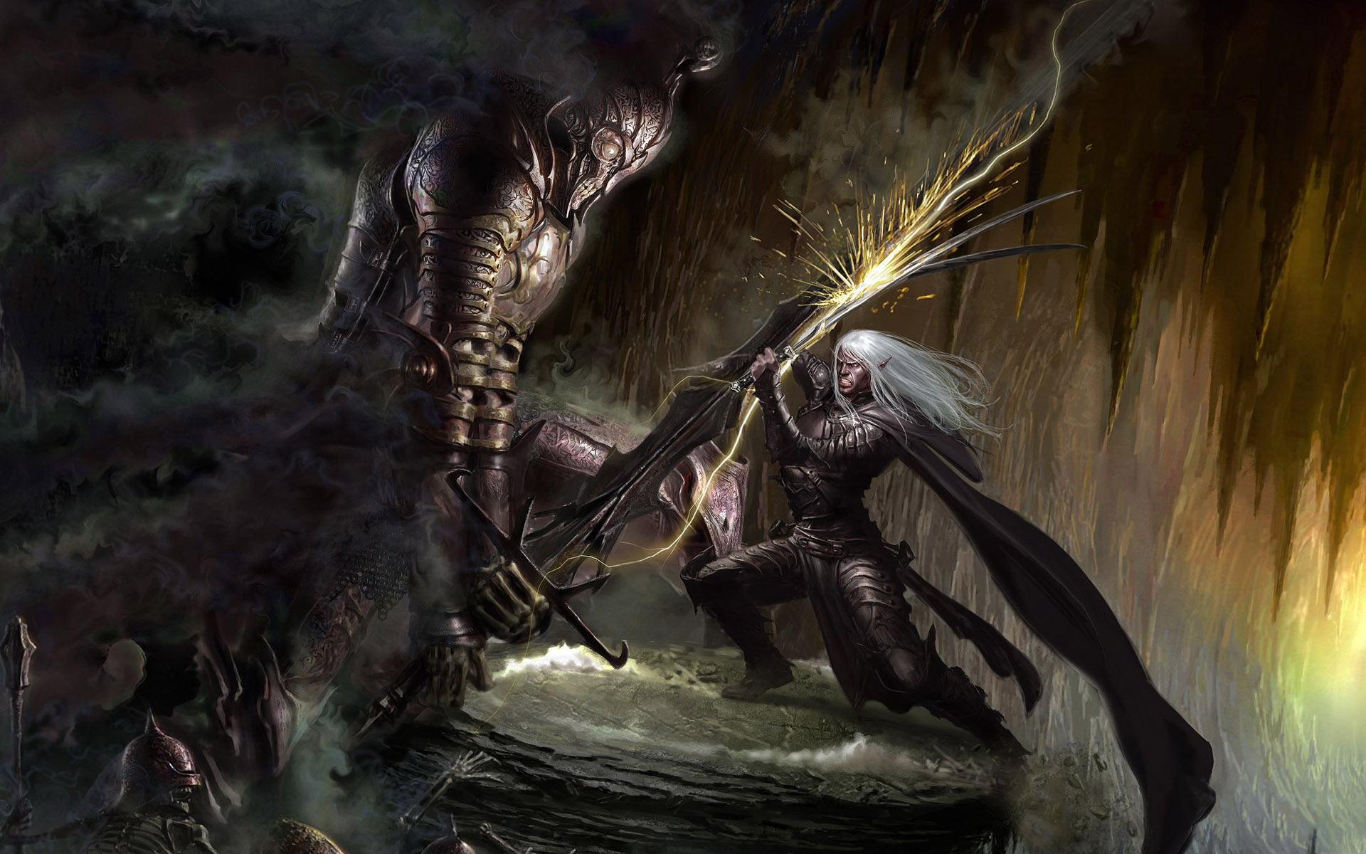 dark elf and the undead