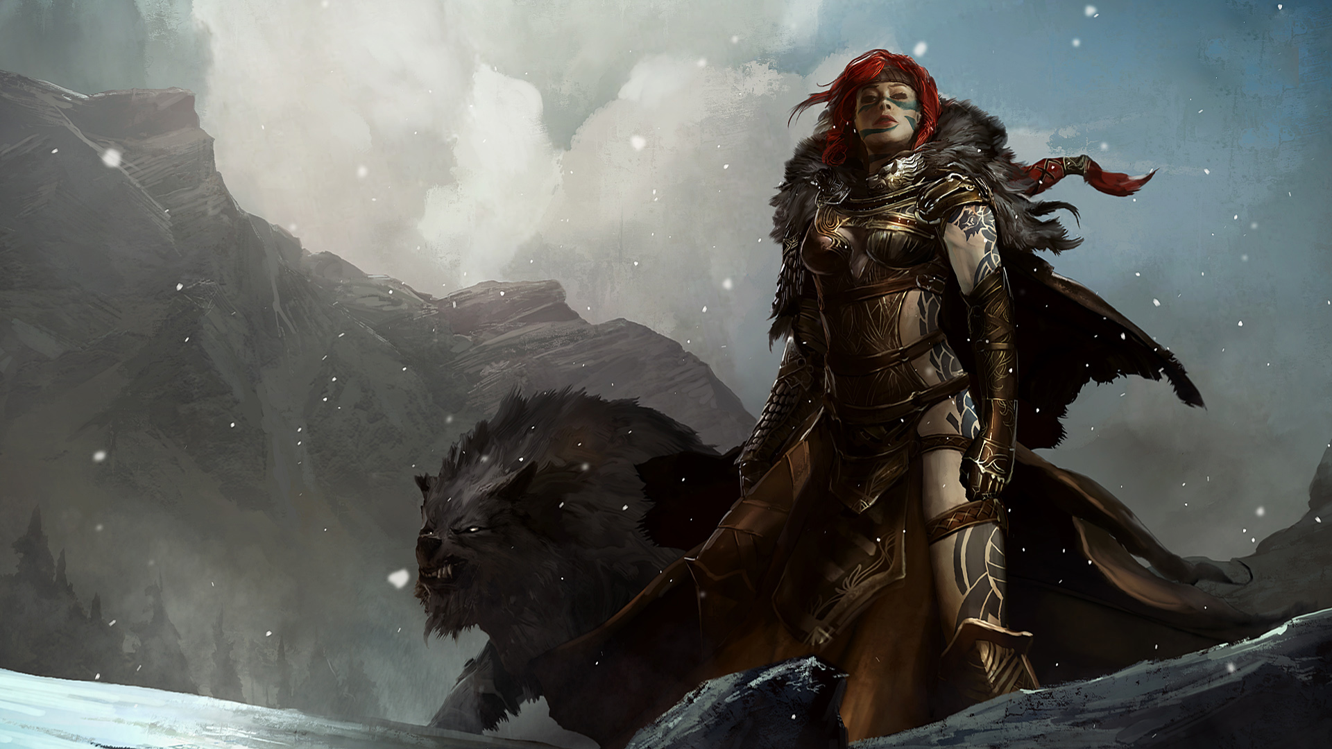 Fantasy art on the theme of the game Guild Wars