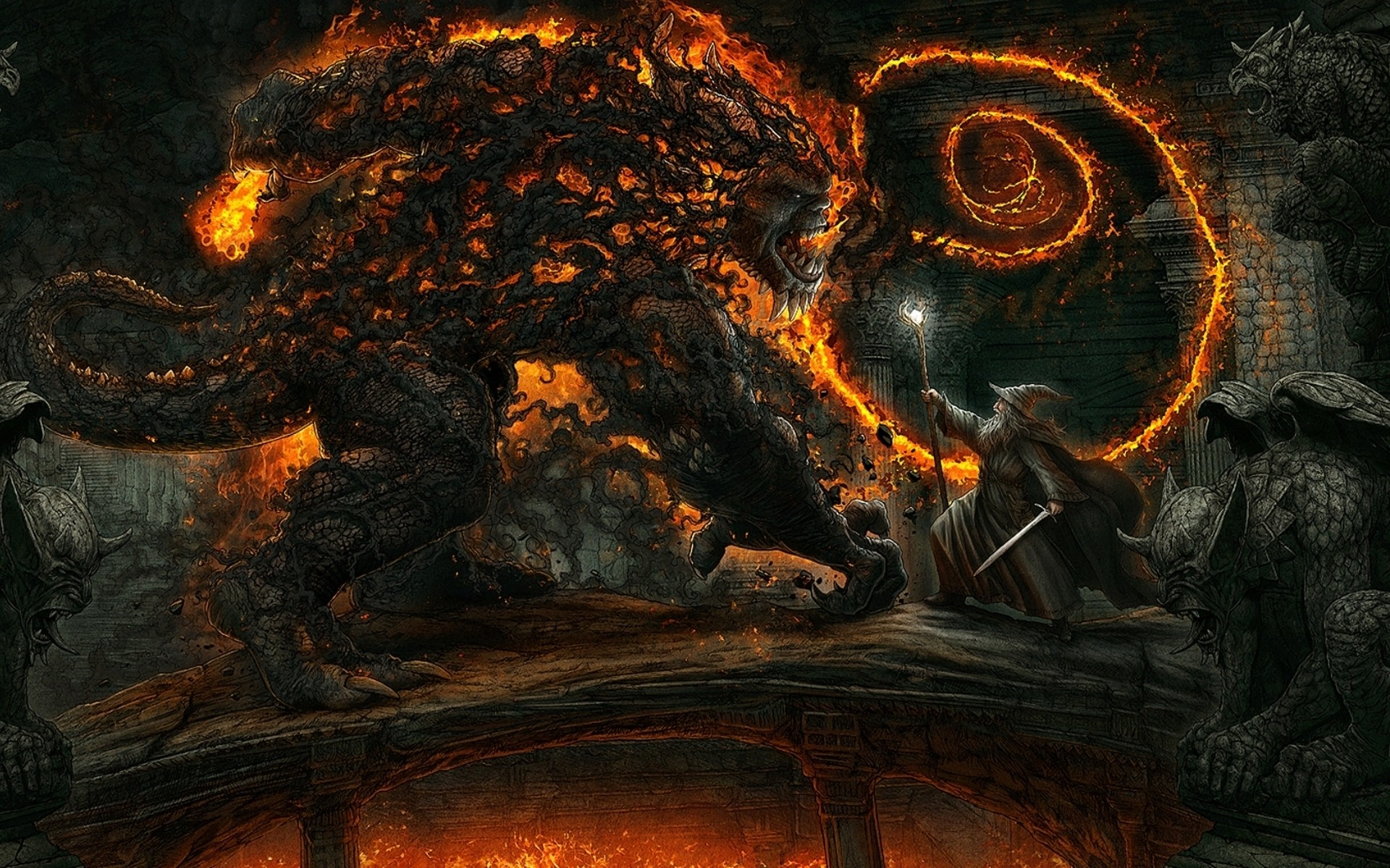 Gandalf vs. Balrog, wallpapers
