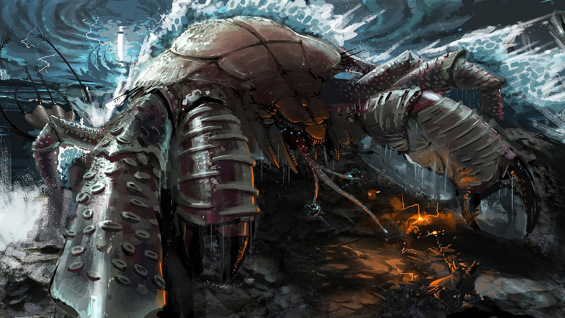 Giant crab monster