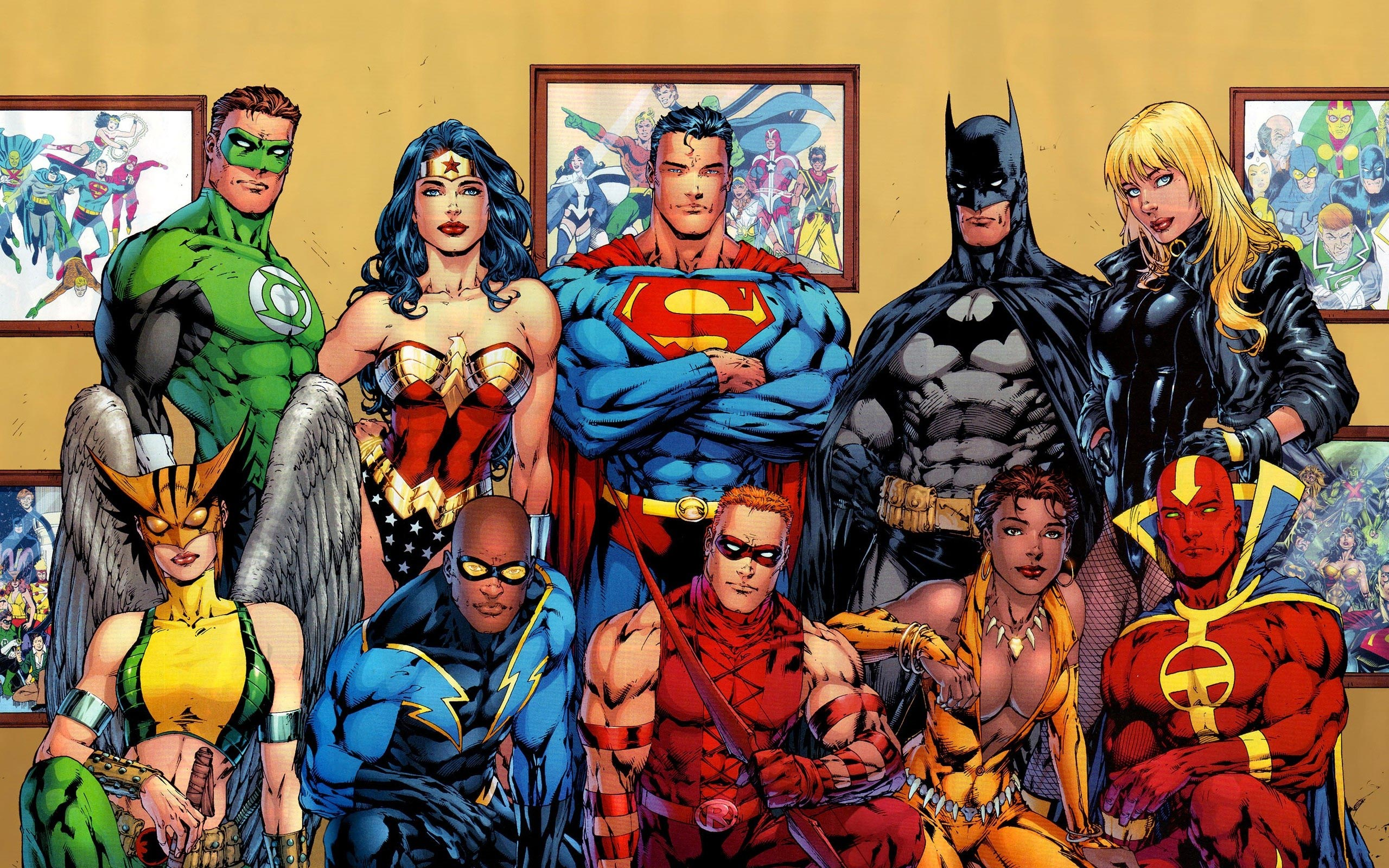 Justice League, all super-hero comics in one image