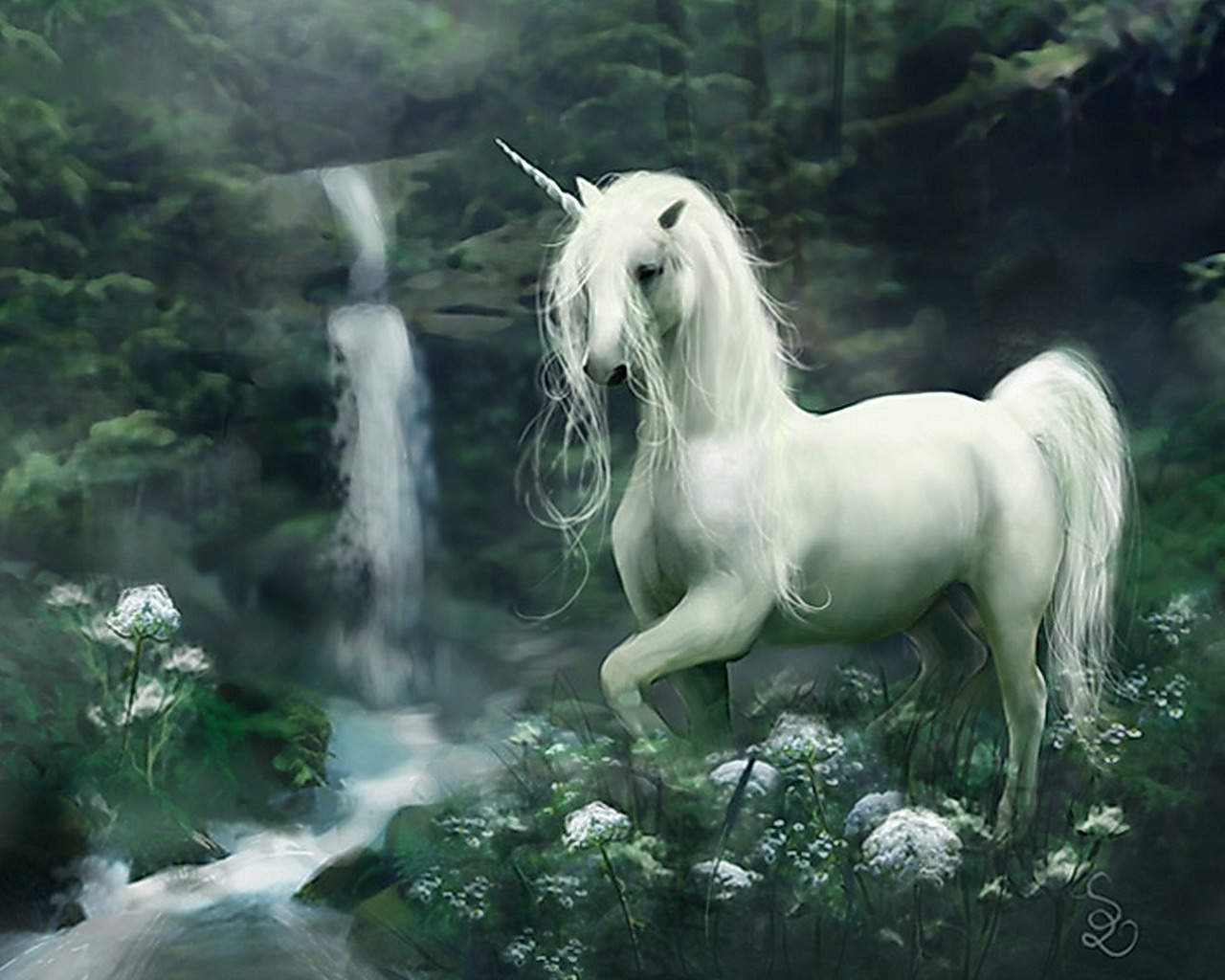 pegasus in the fairy forest
