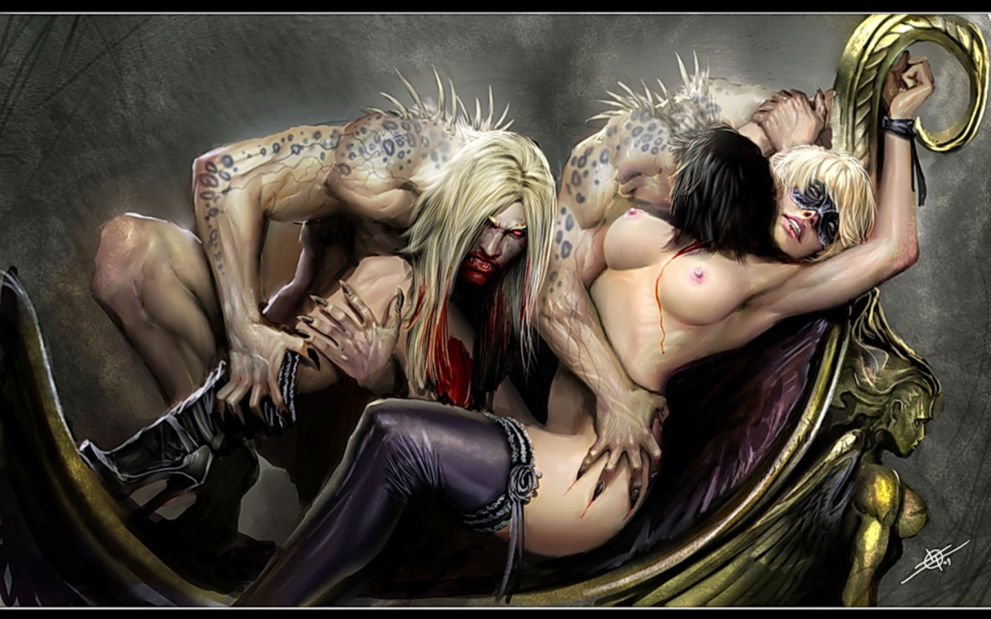 Vampires art xxx erotic tube