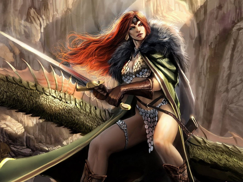 Red-haired hunter