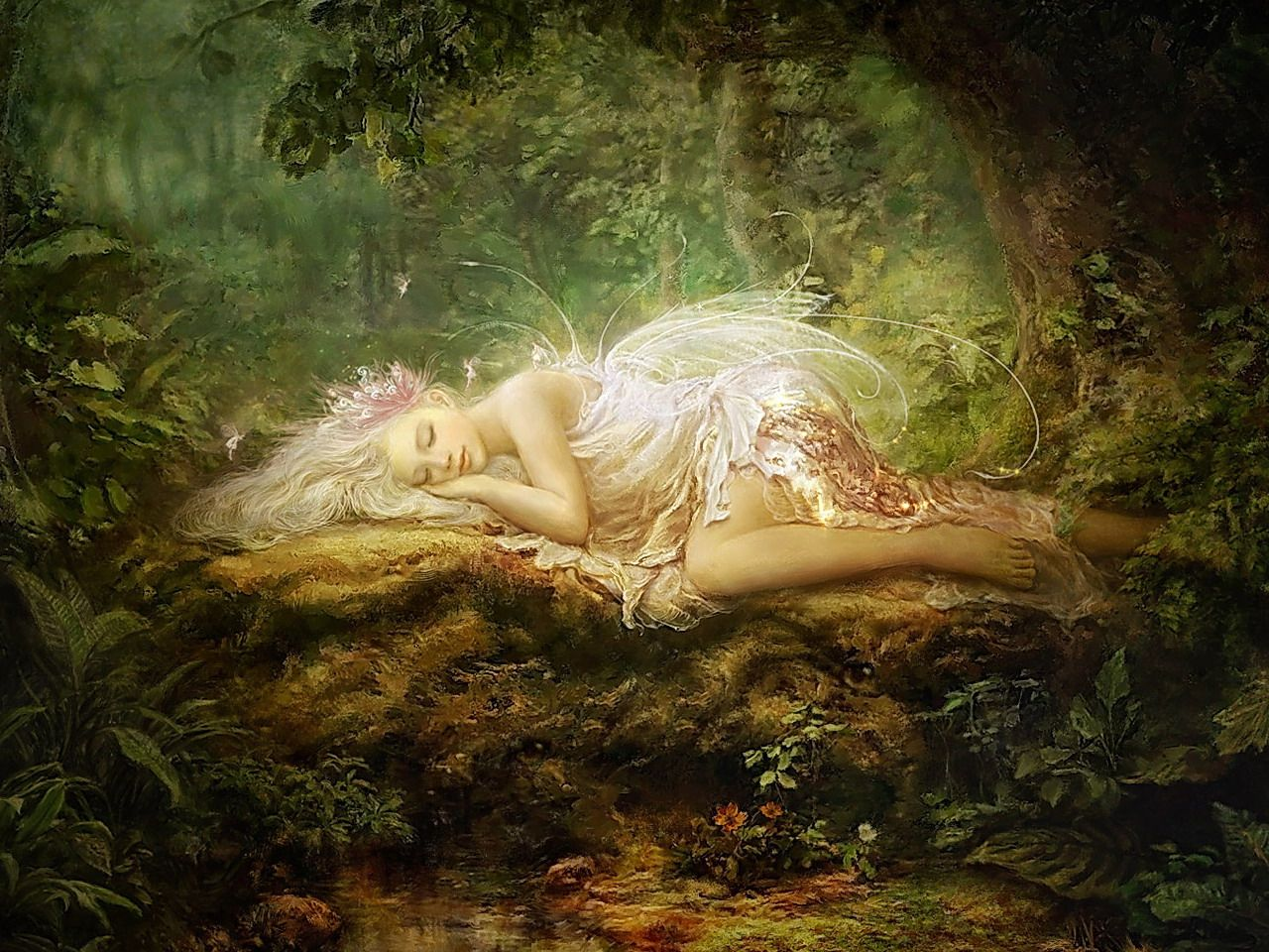 Sleeping Forest Fairy