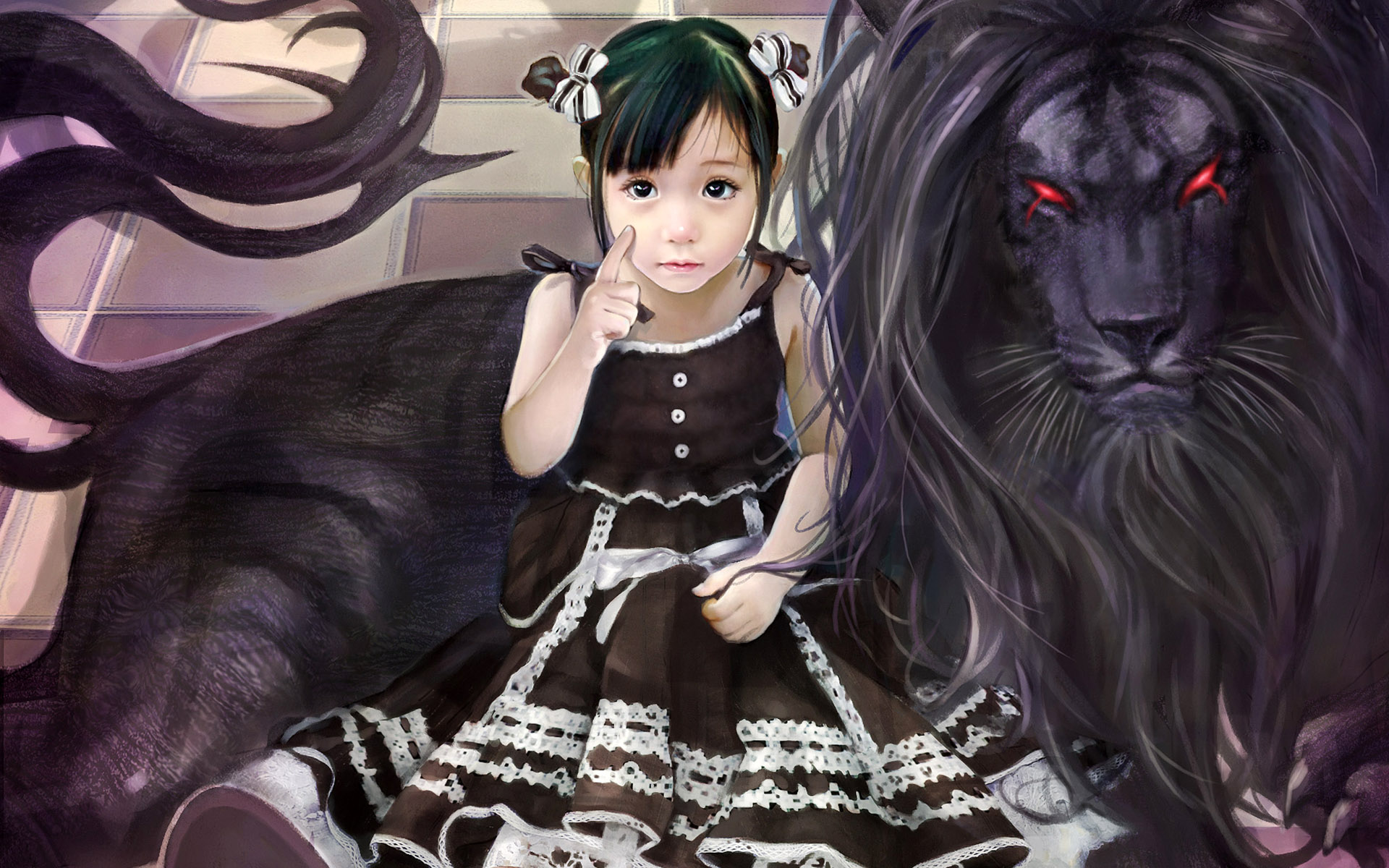 The little girl and the Manticore