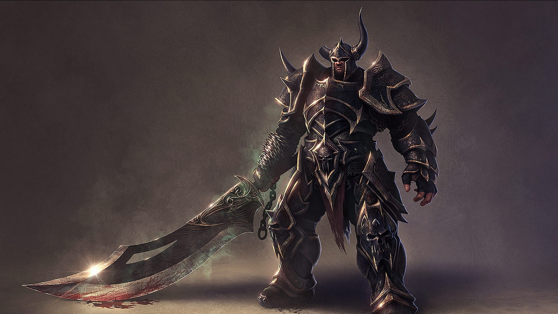 The mighty warrior with a huge sword
