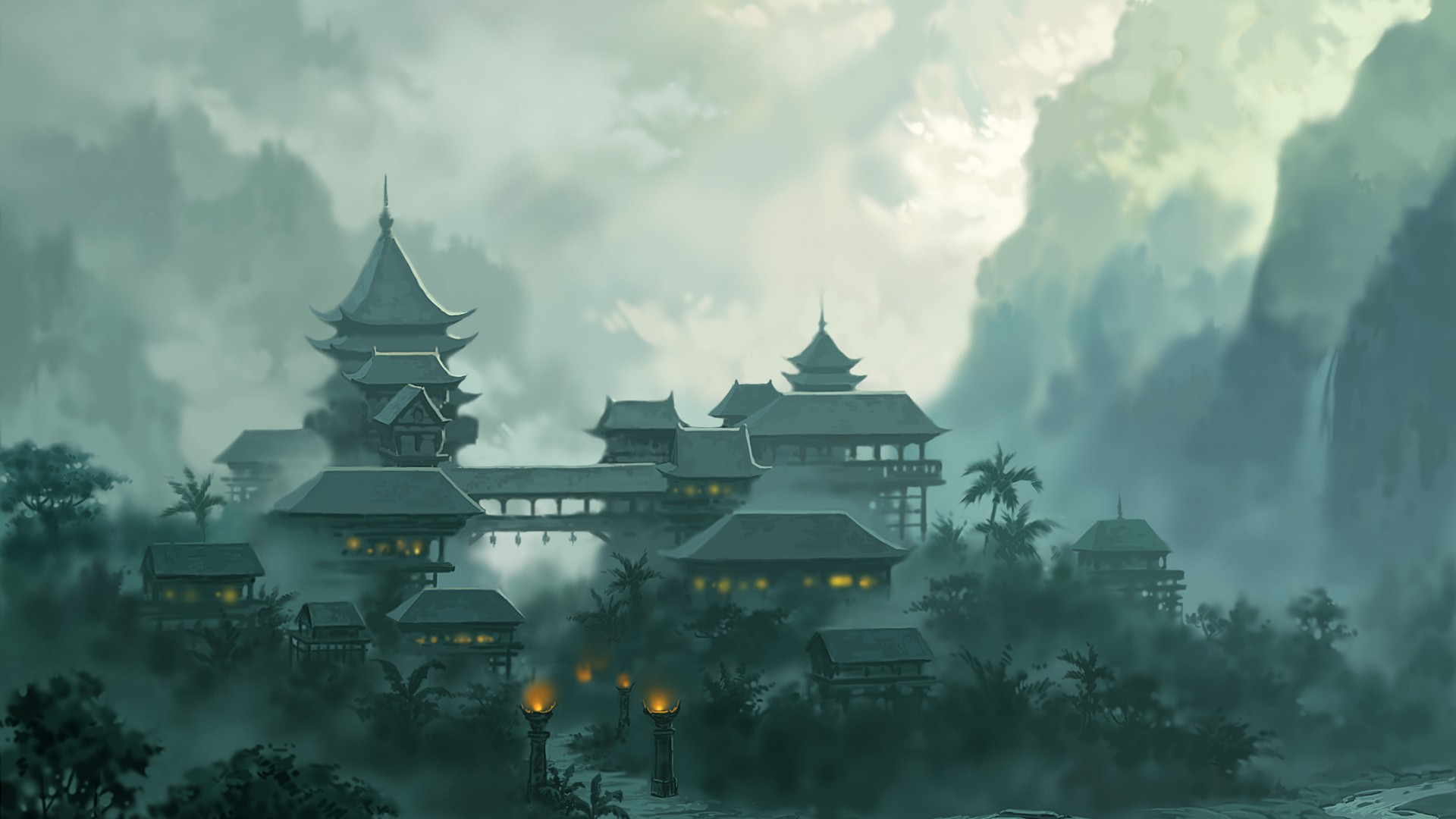 The monastery in the Japanese style