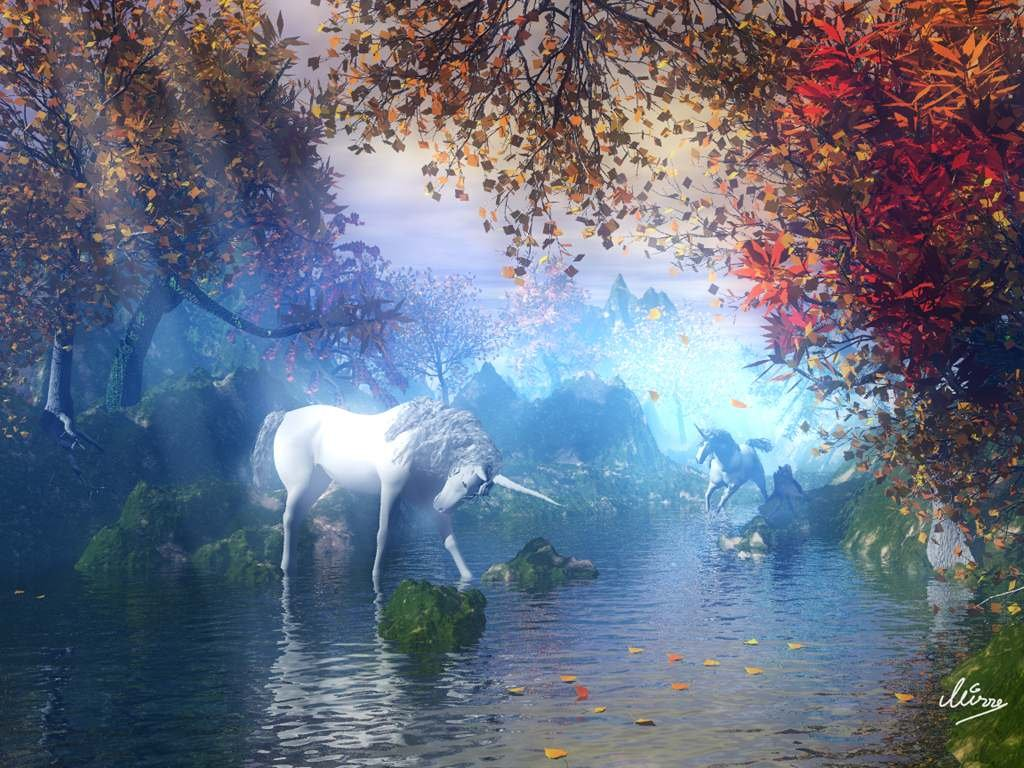 unicorn-in-fairy-forest