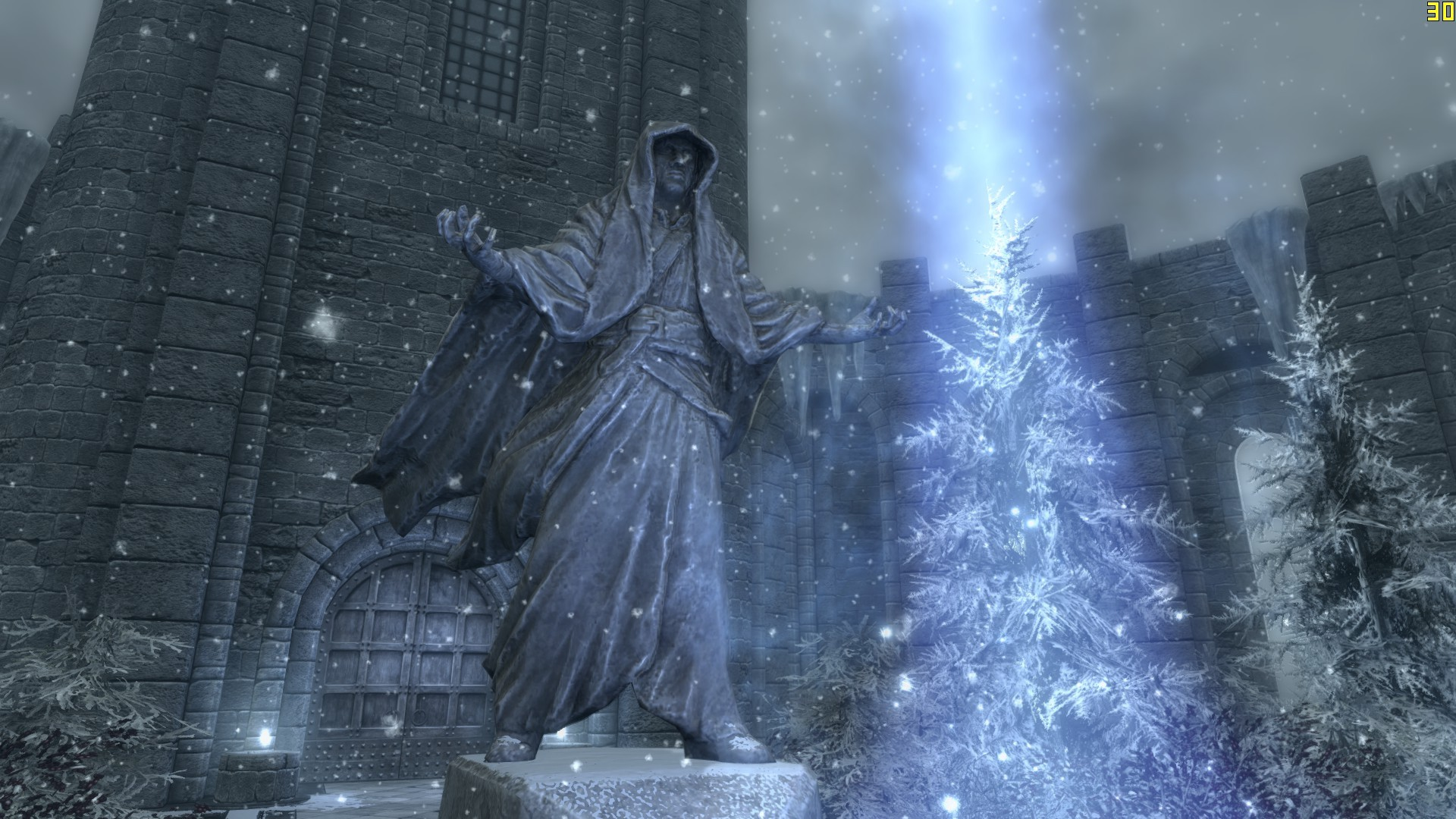 A statue of the game The Elder Scrolls: Skyrim