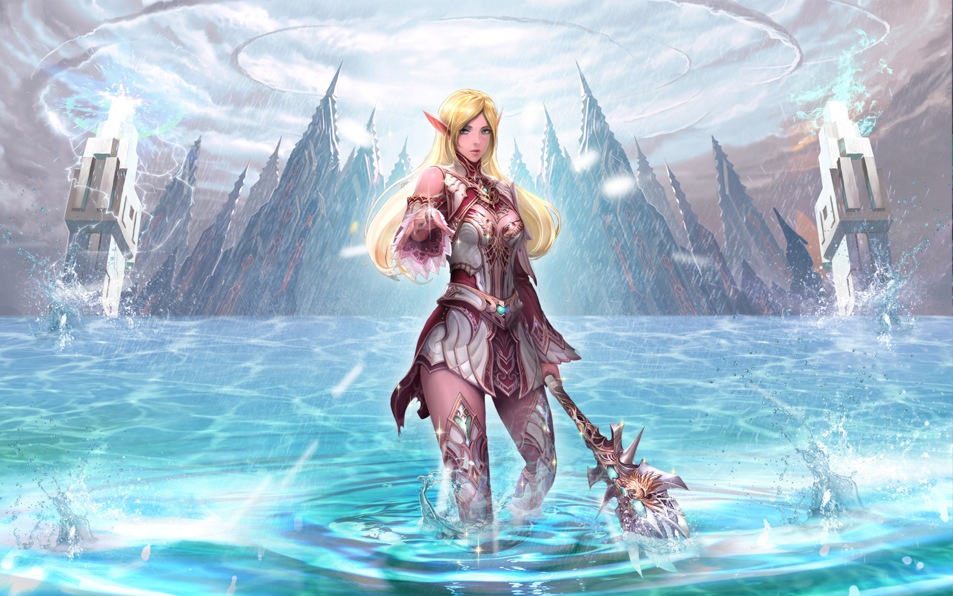 Elven healers from the game Lineage 2