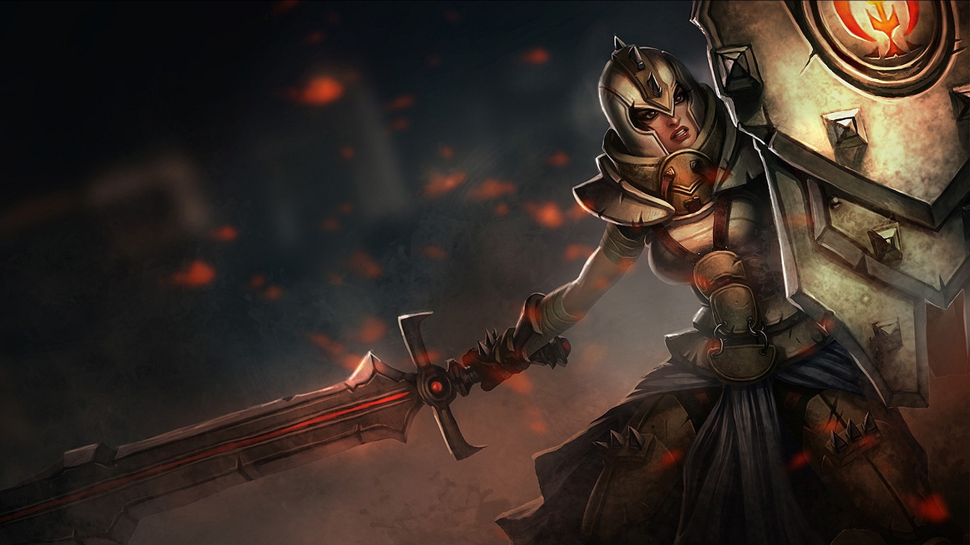 Girl crusader art for the game League of Legends
