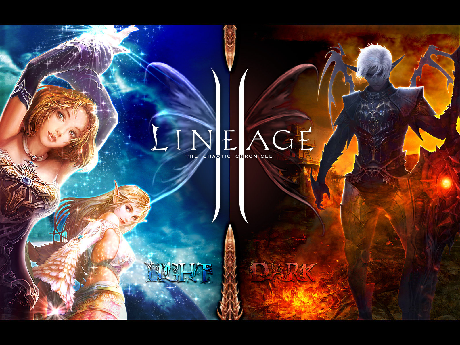 High quality wallpapers Lineage 2 Light and Dark