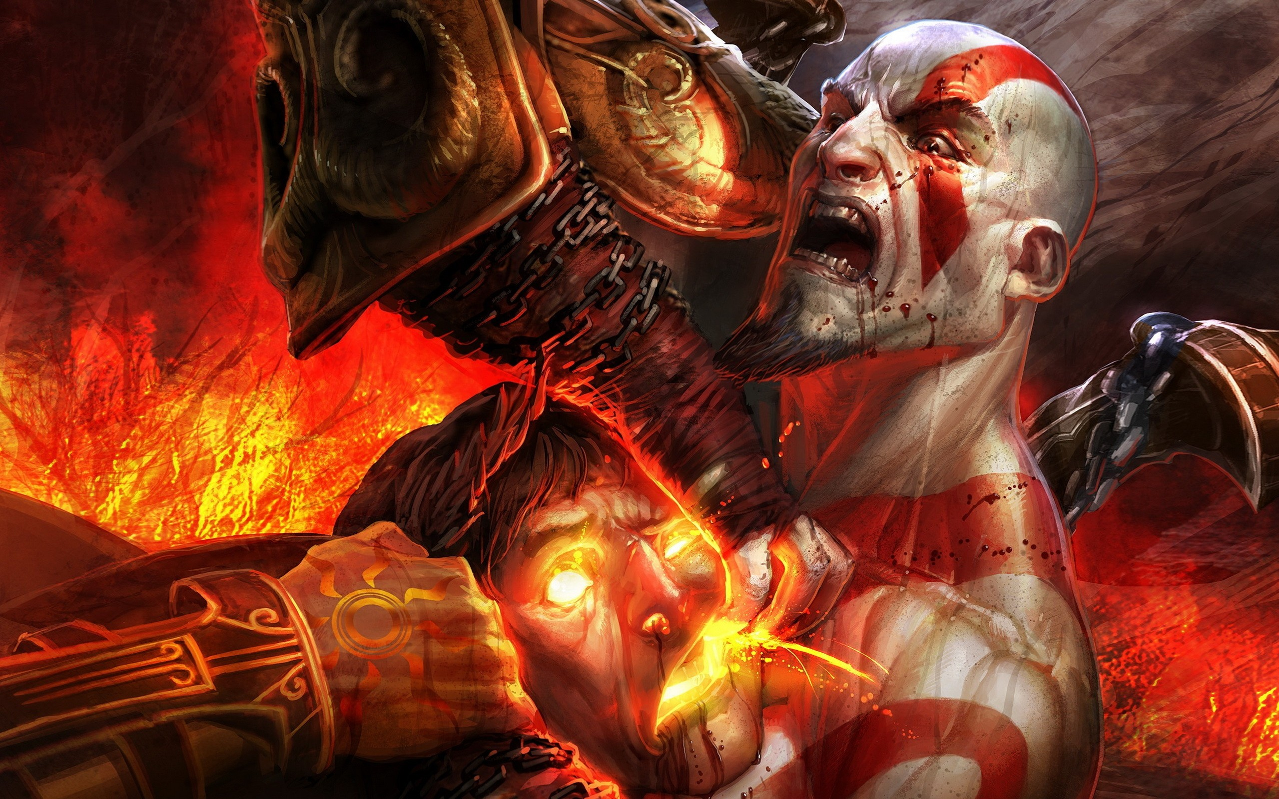 Kratos, the protagonist of the game God Of War, Art Wallpaper