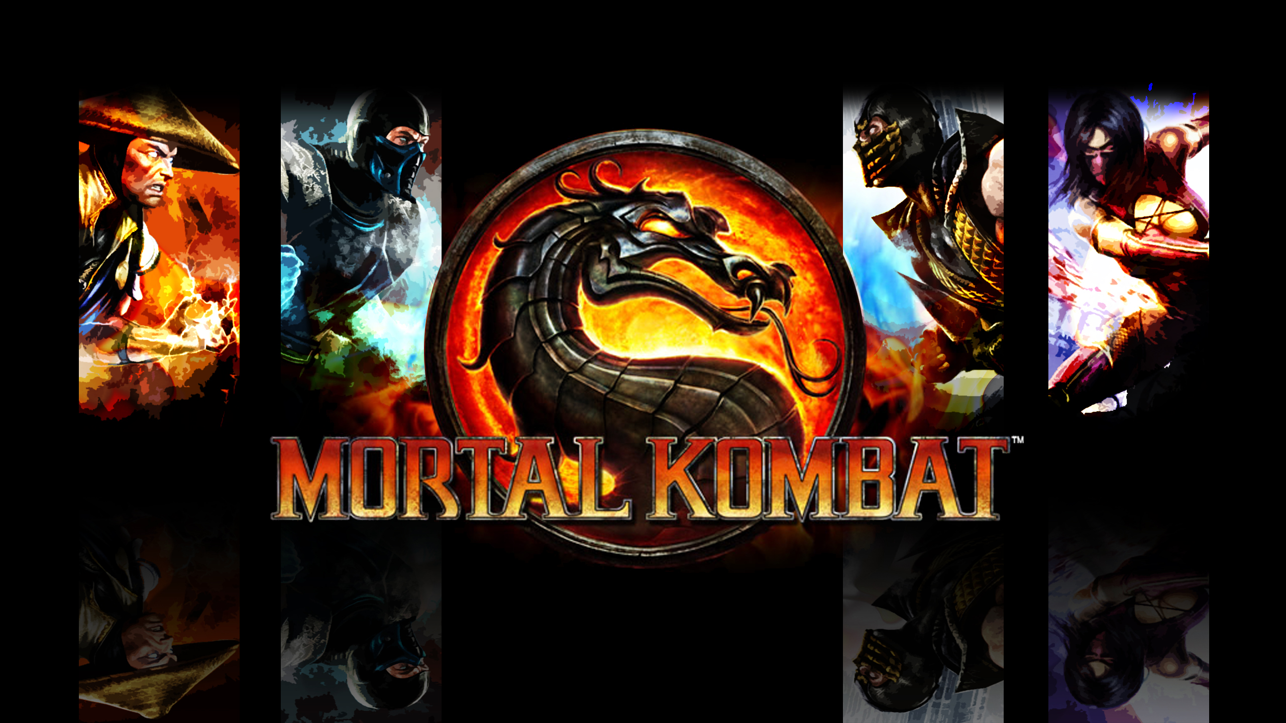 Opening splash out of the game Mortal Combat.
