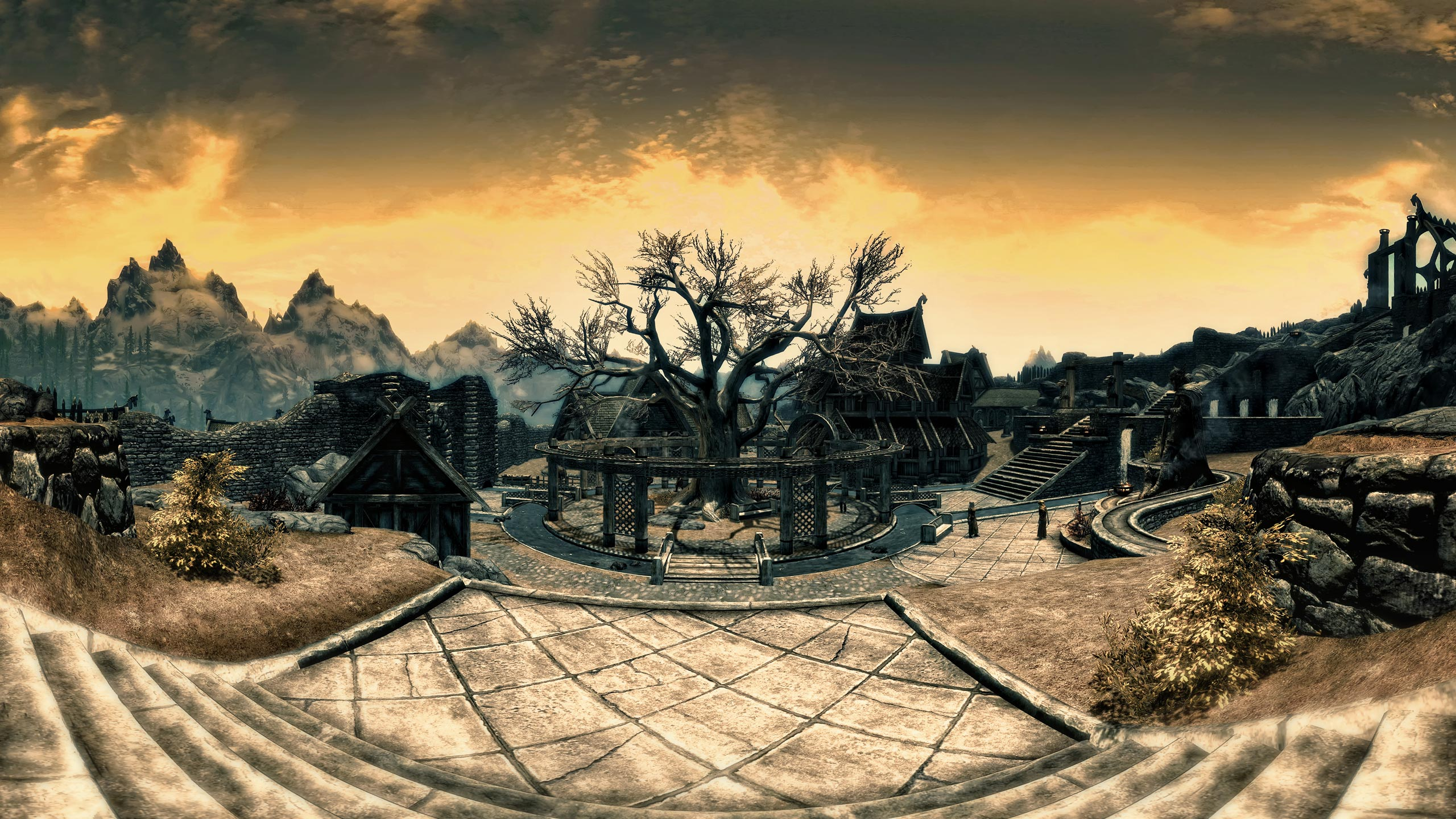 Panoramic screenshot from the game Elder Scrolls Skyrim