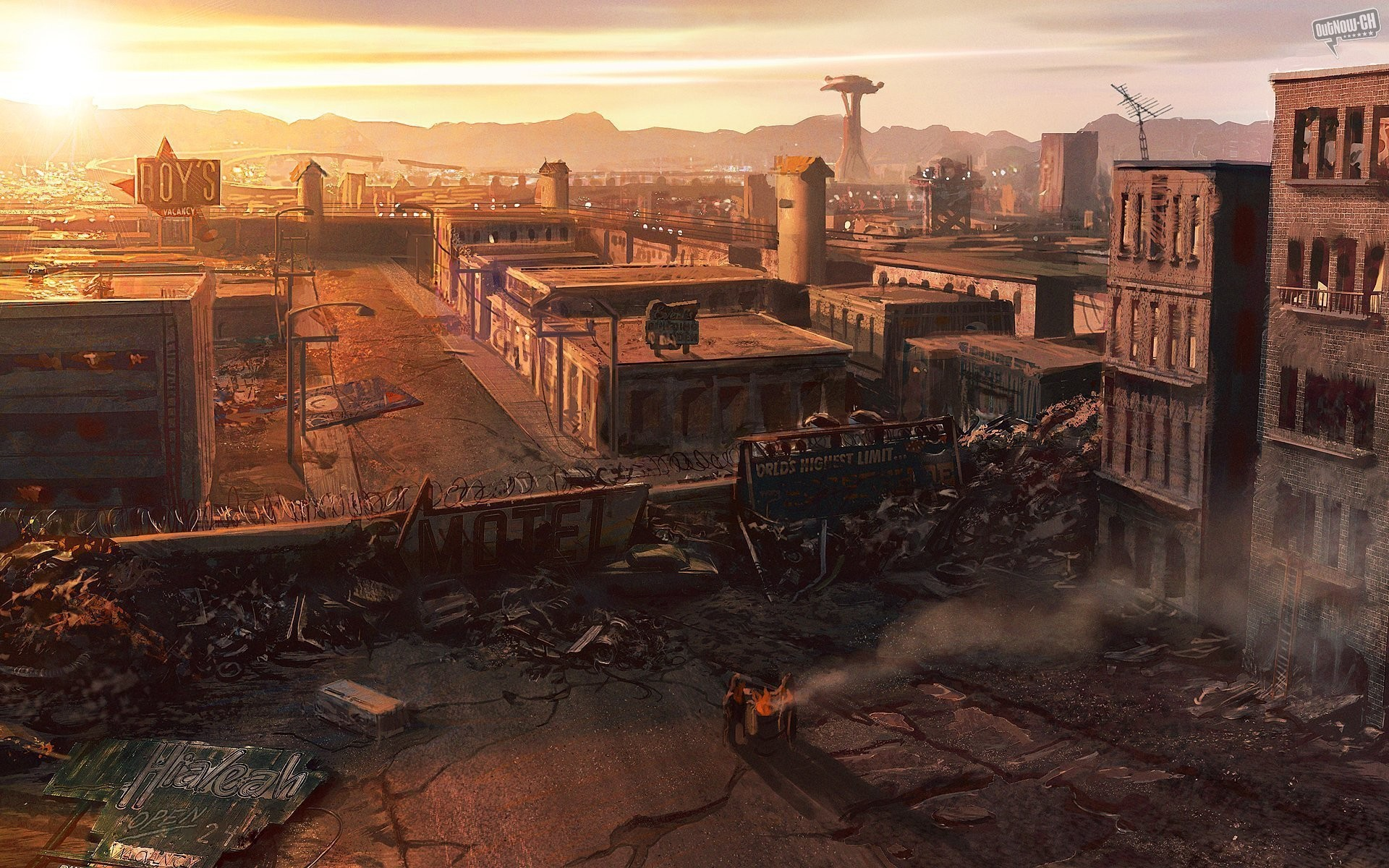 Post apocalyptic Las Vegas from Fallout