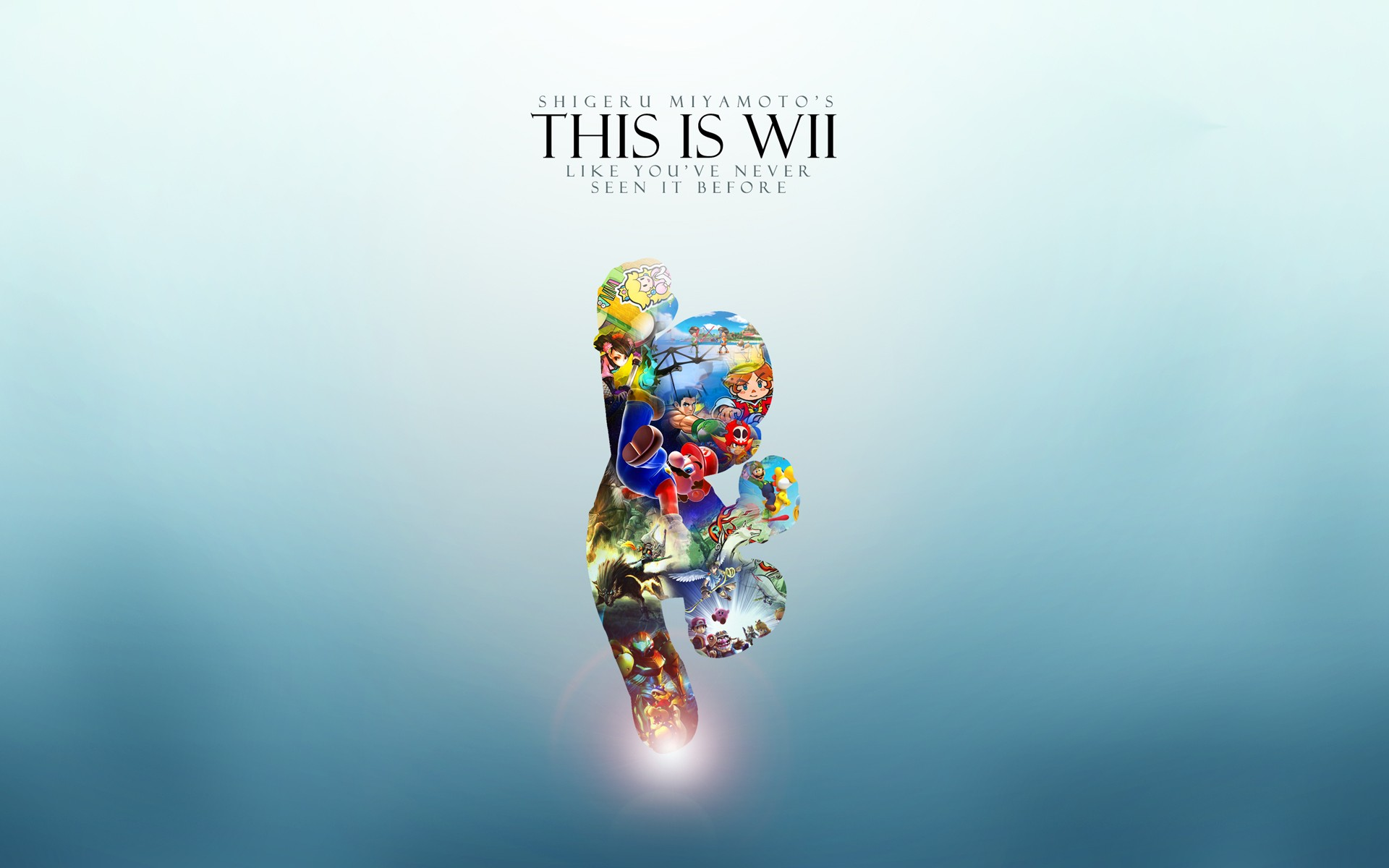 Promotional wallpaper WII game console