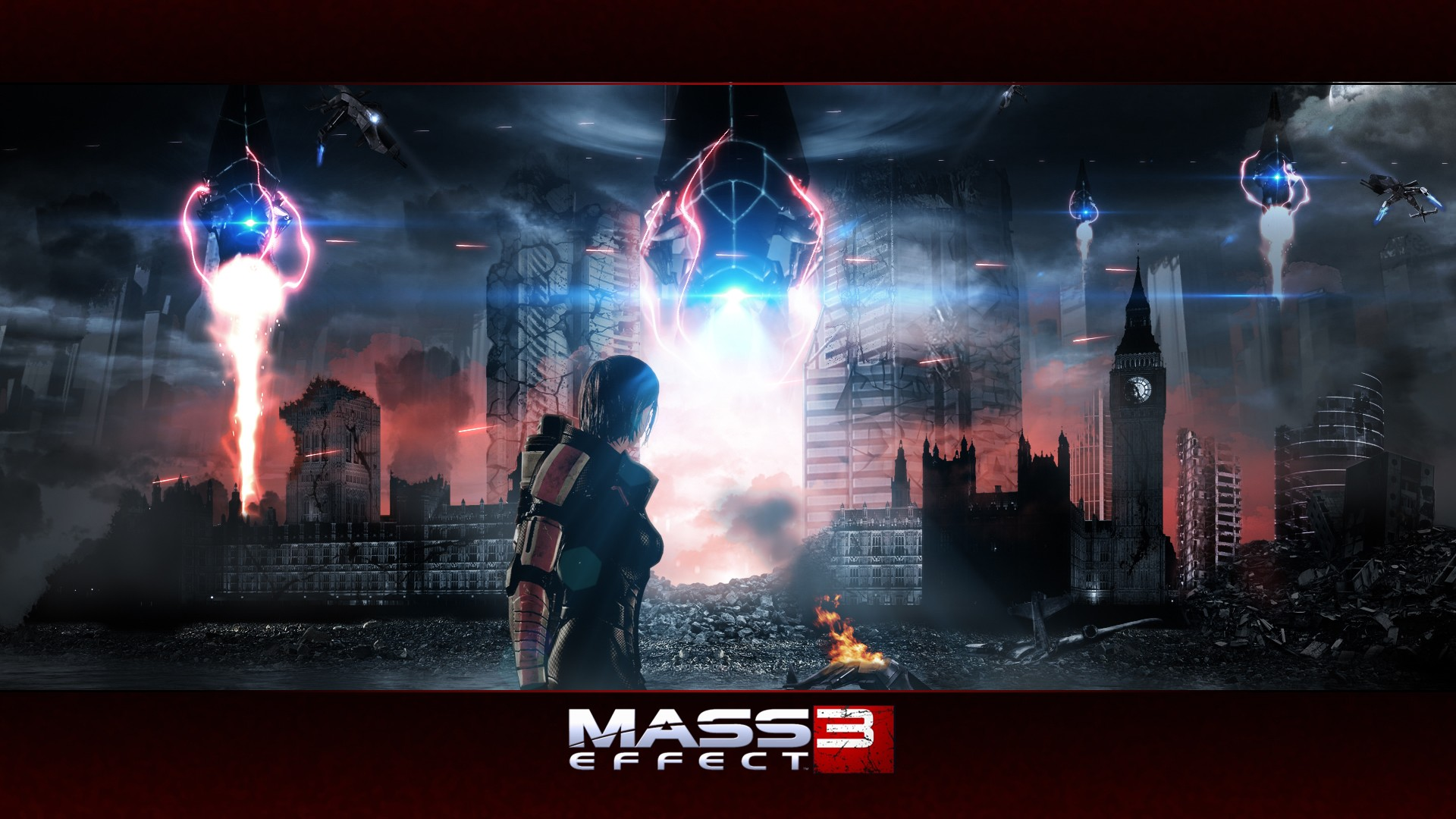 Screensaver of the game Mass Effect 3