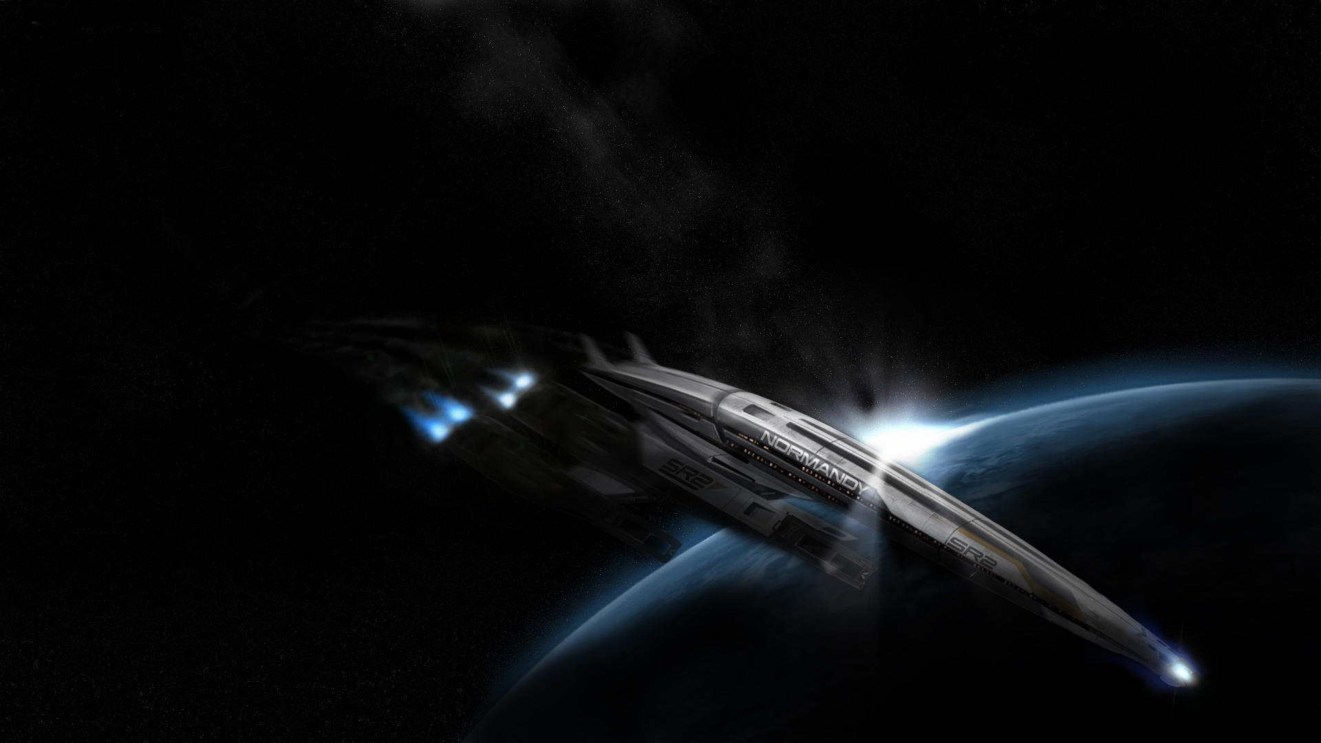 Spaceship Normandy SR2 from Mass Effect 2