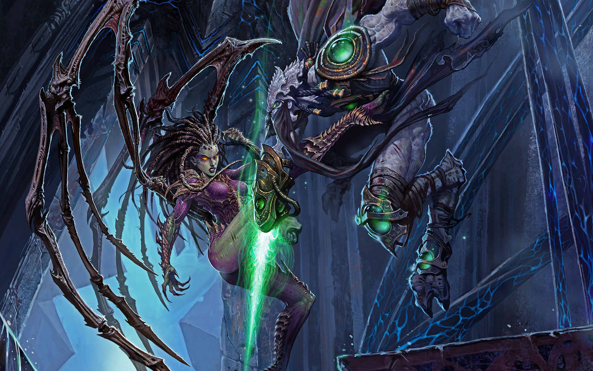 Zeratul and the Queen of Blades