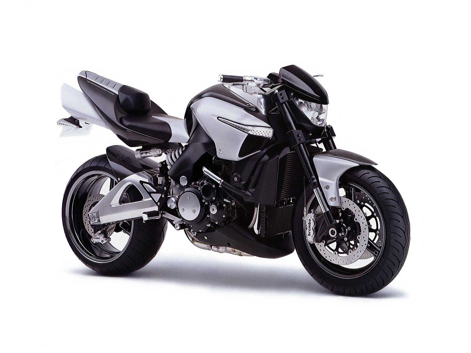 Black and gray motorcycle on a white background, wallpaper, motorcycles.