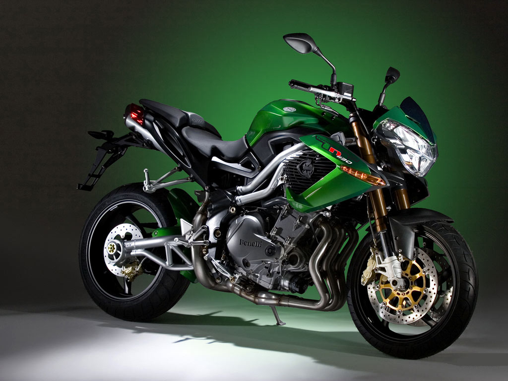 Black and green motorcycle Benelli, wallpaper, motorcycles.