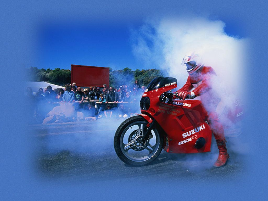Drift on a motorcycle