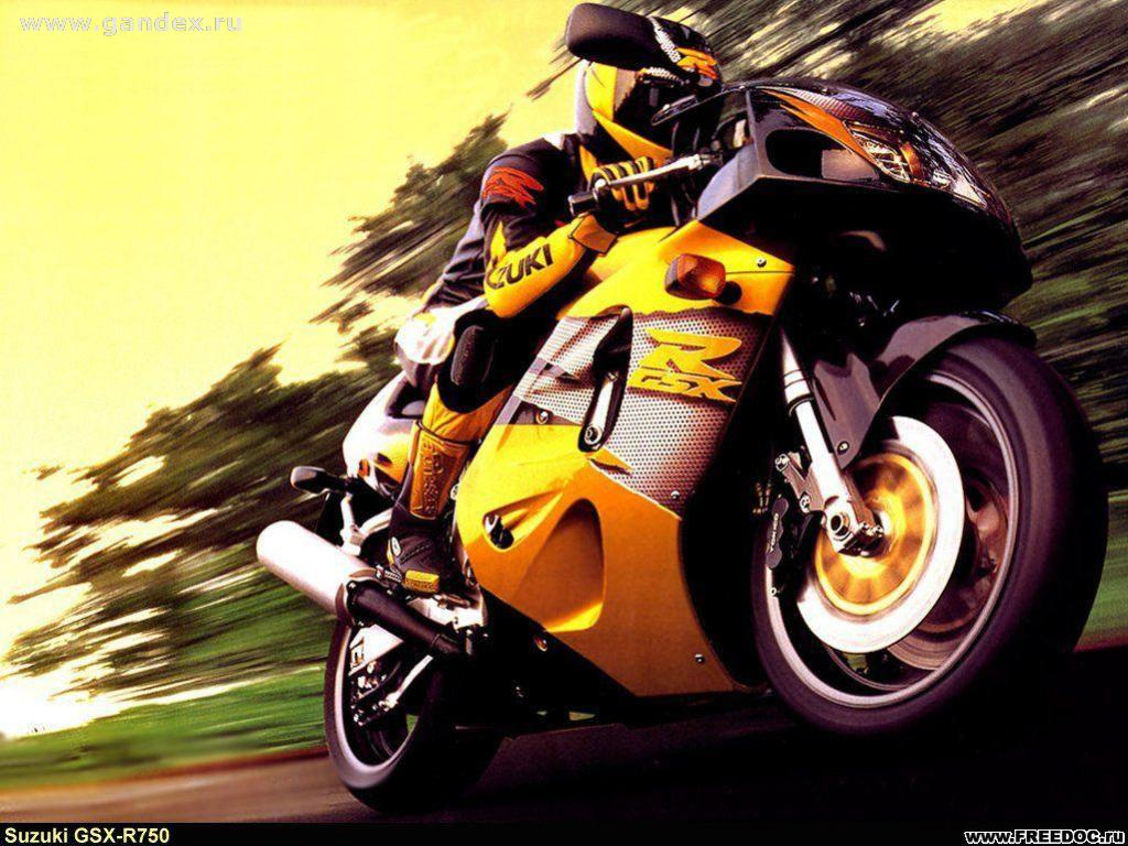 Suzuki motorcycle at speed - Wallpaper