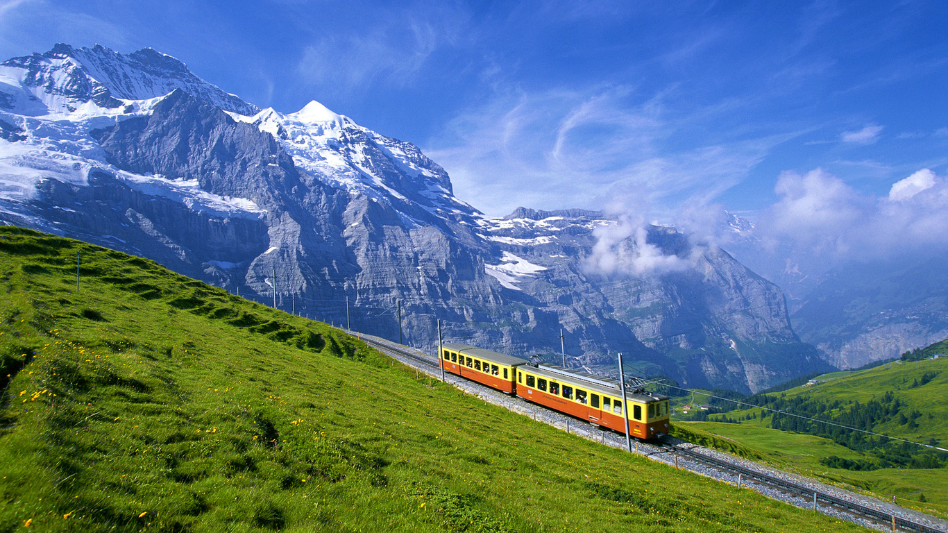 Alps Mountains Railroad