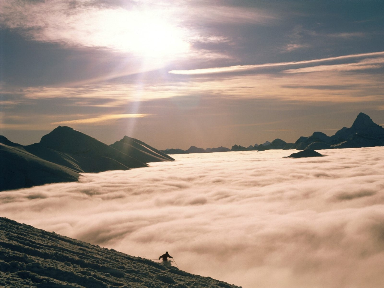 Conqueror of mountains above the clouds