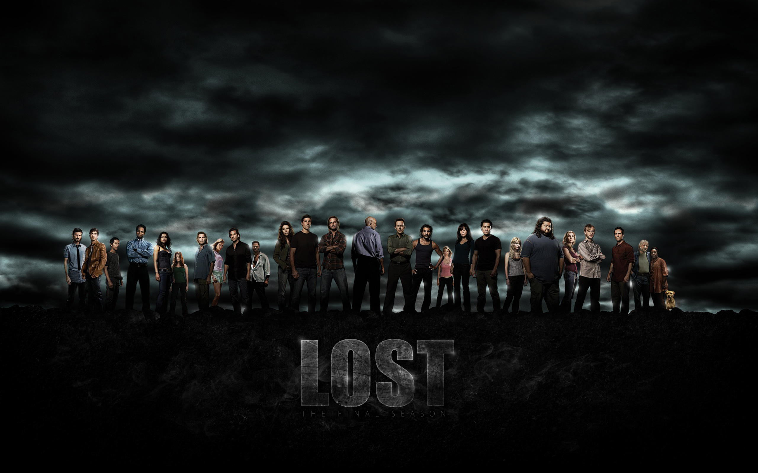 All the characters of the series Lost (LOST), wallpaper