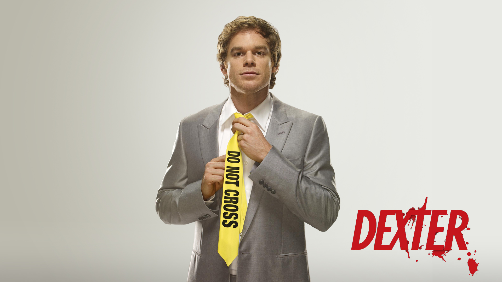Dexter Morgan in a tie Do Not Cross