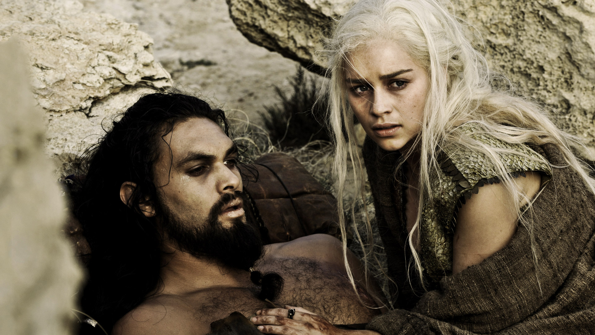 Khal and Khaleesi from the TV series Game of Thrones