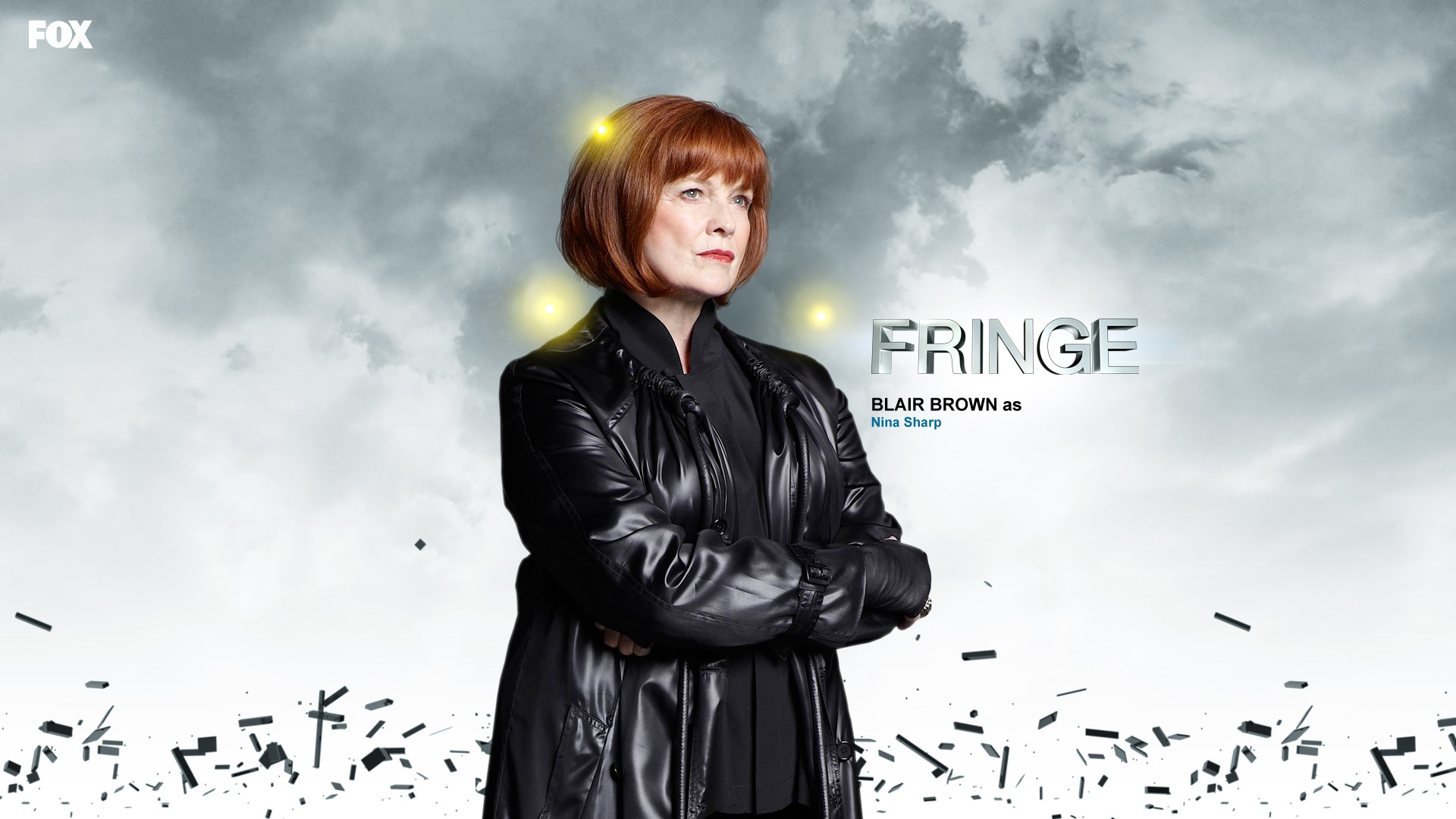 Nina Sharp, the heroine of the series Fringe, managing Massive Dynamics