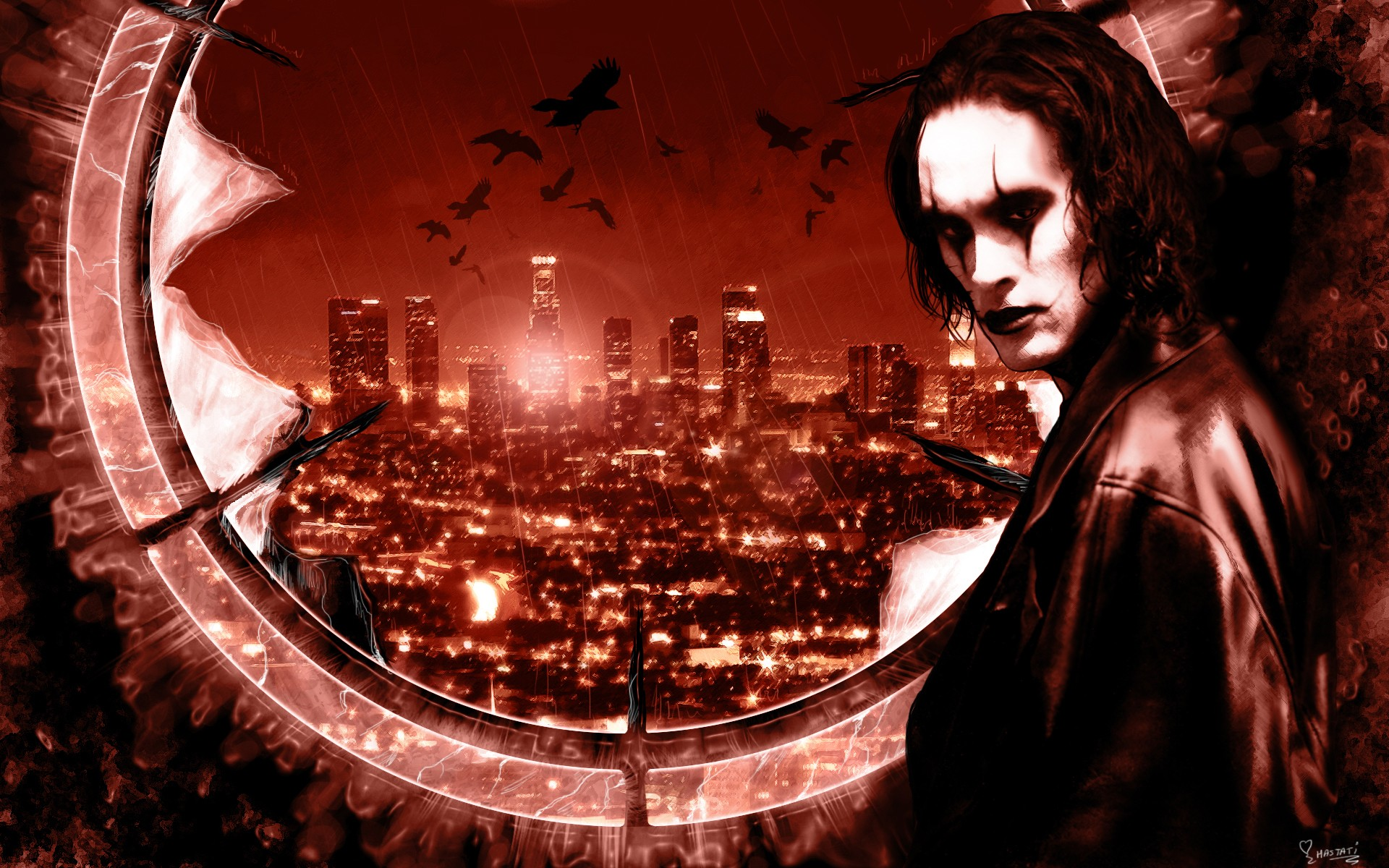 Wallpaper with the main hero of the movie The Crow
