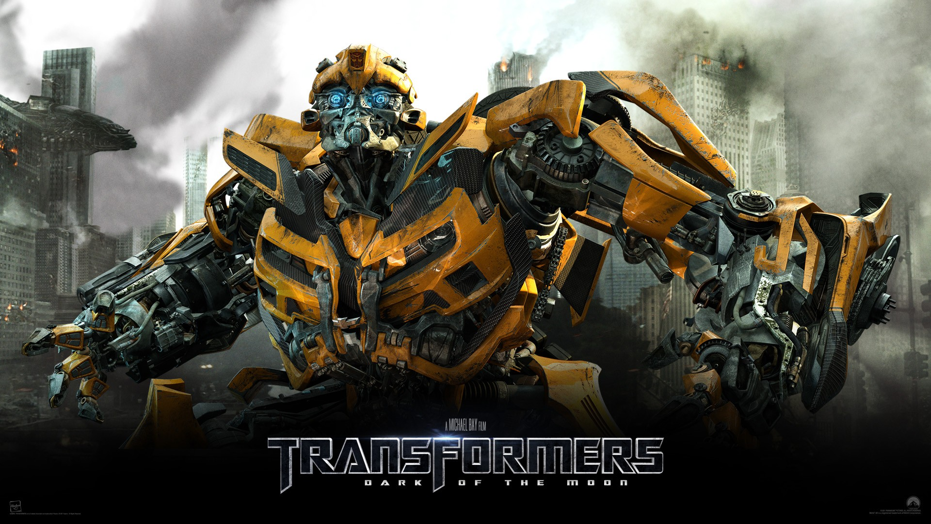 Yellow transformer from the movie Transformers: Dark of the moon