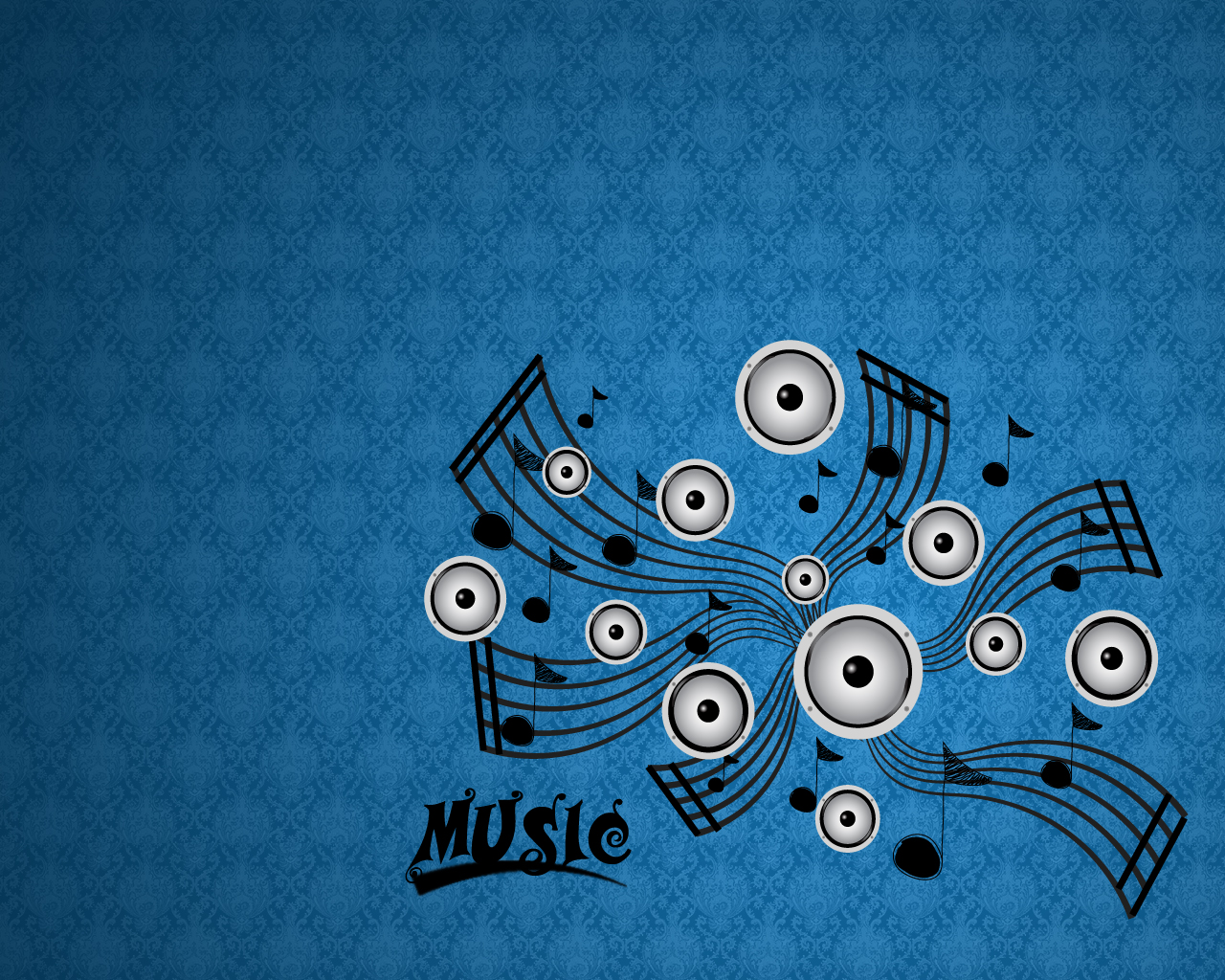 Theme music - plain wallpaper with musical notes