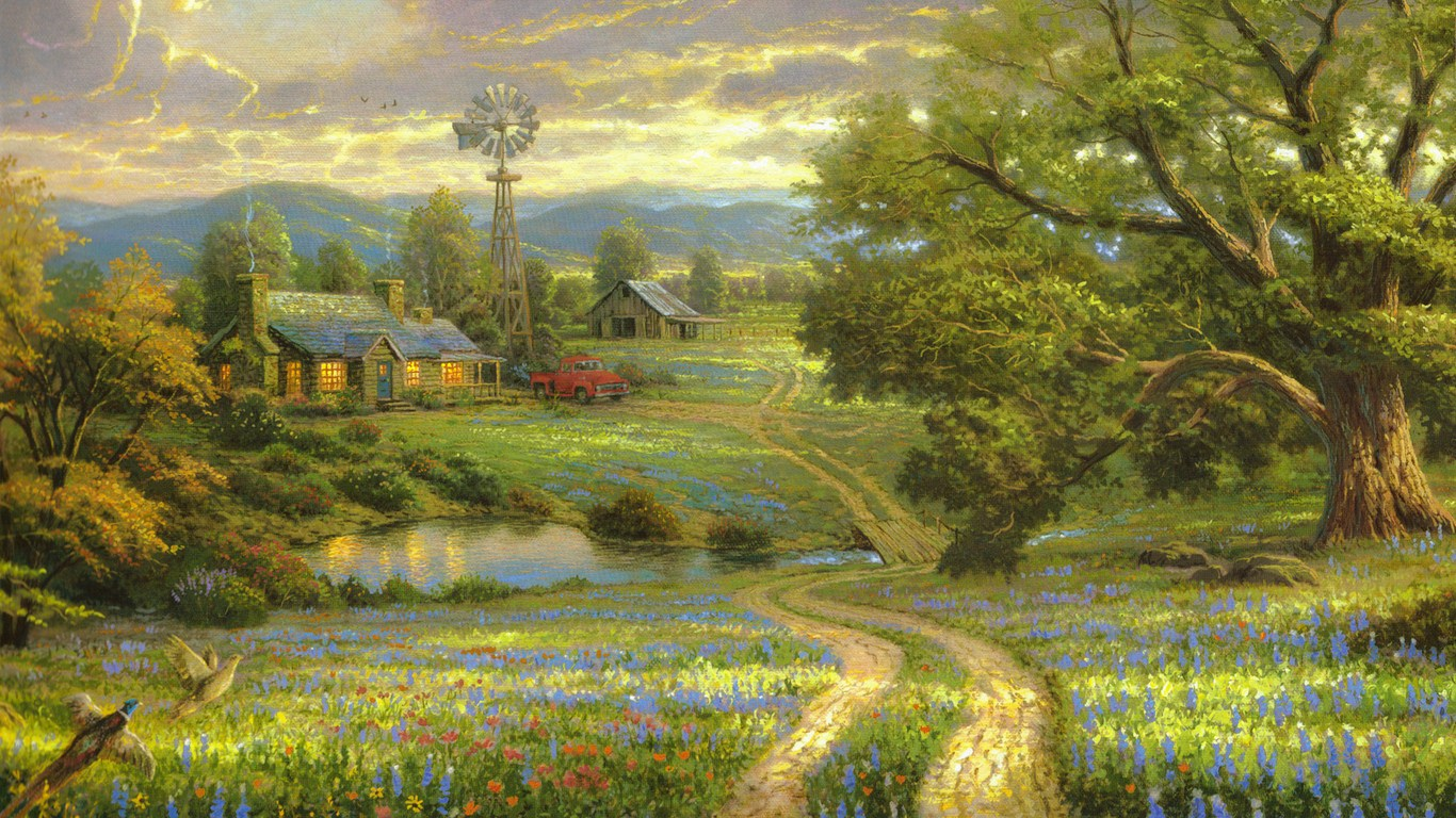 Painting farm field