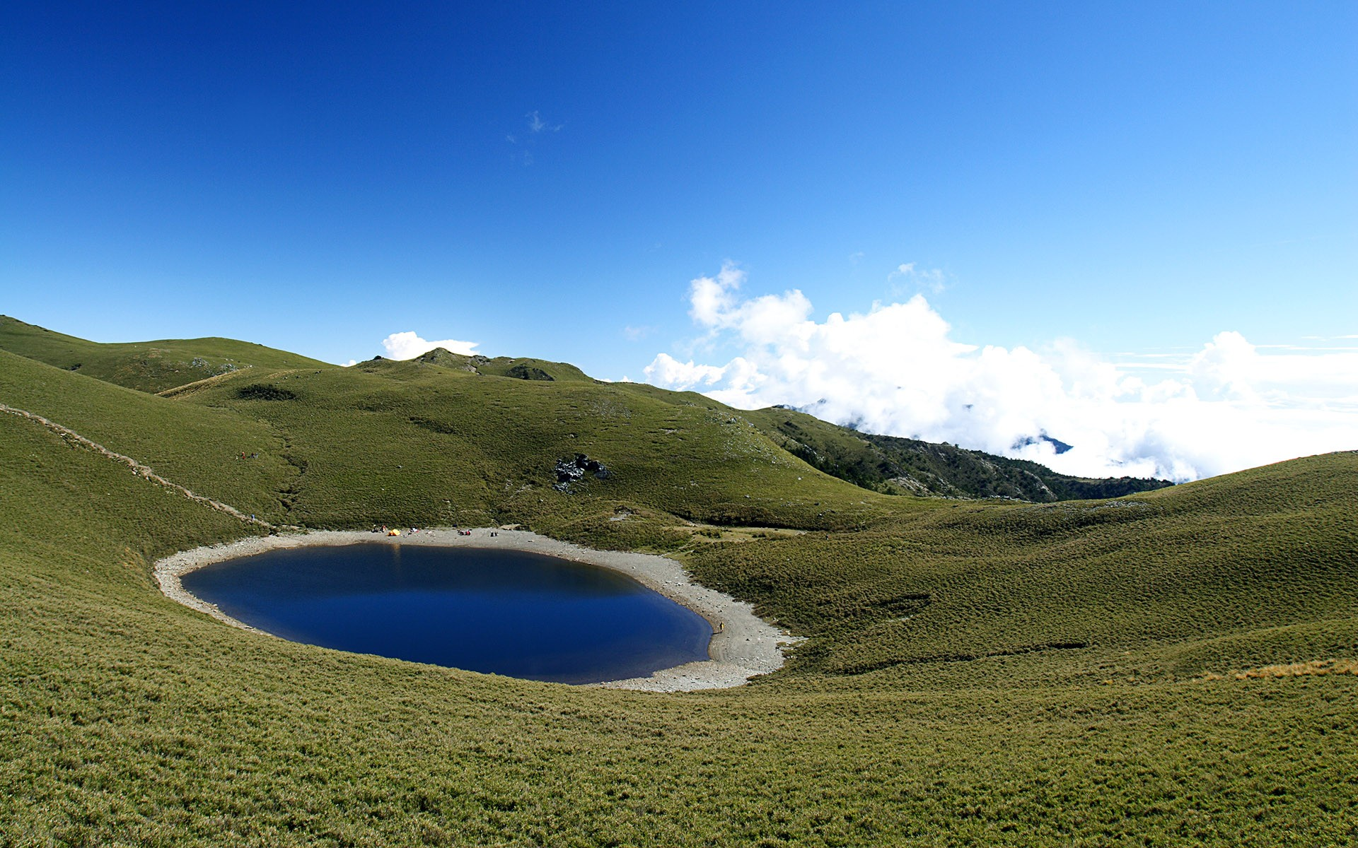 Pond at the top