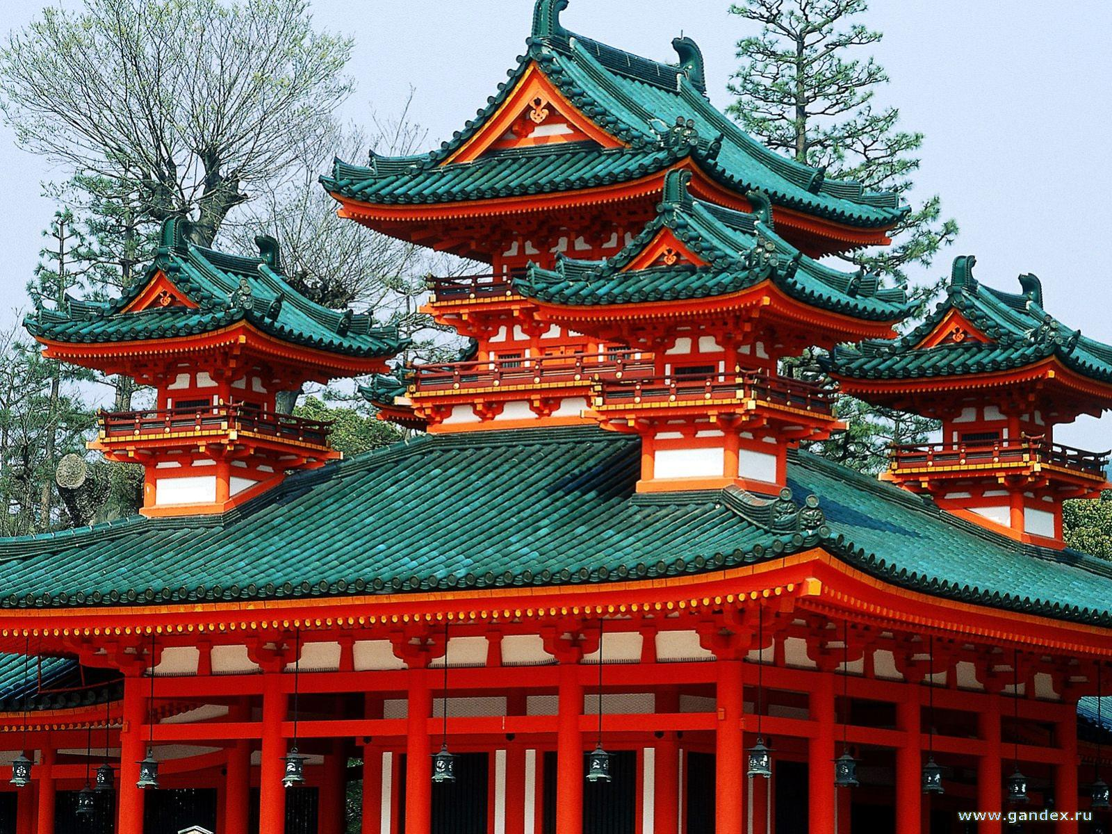 Red House Heian srnu, Kiyoto, Japan - Wallpapers