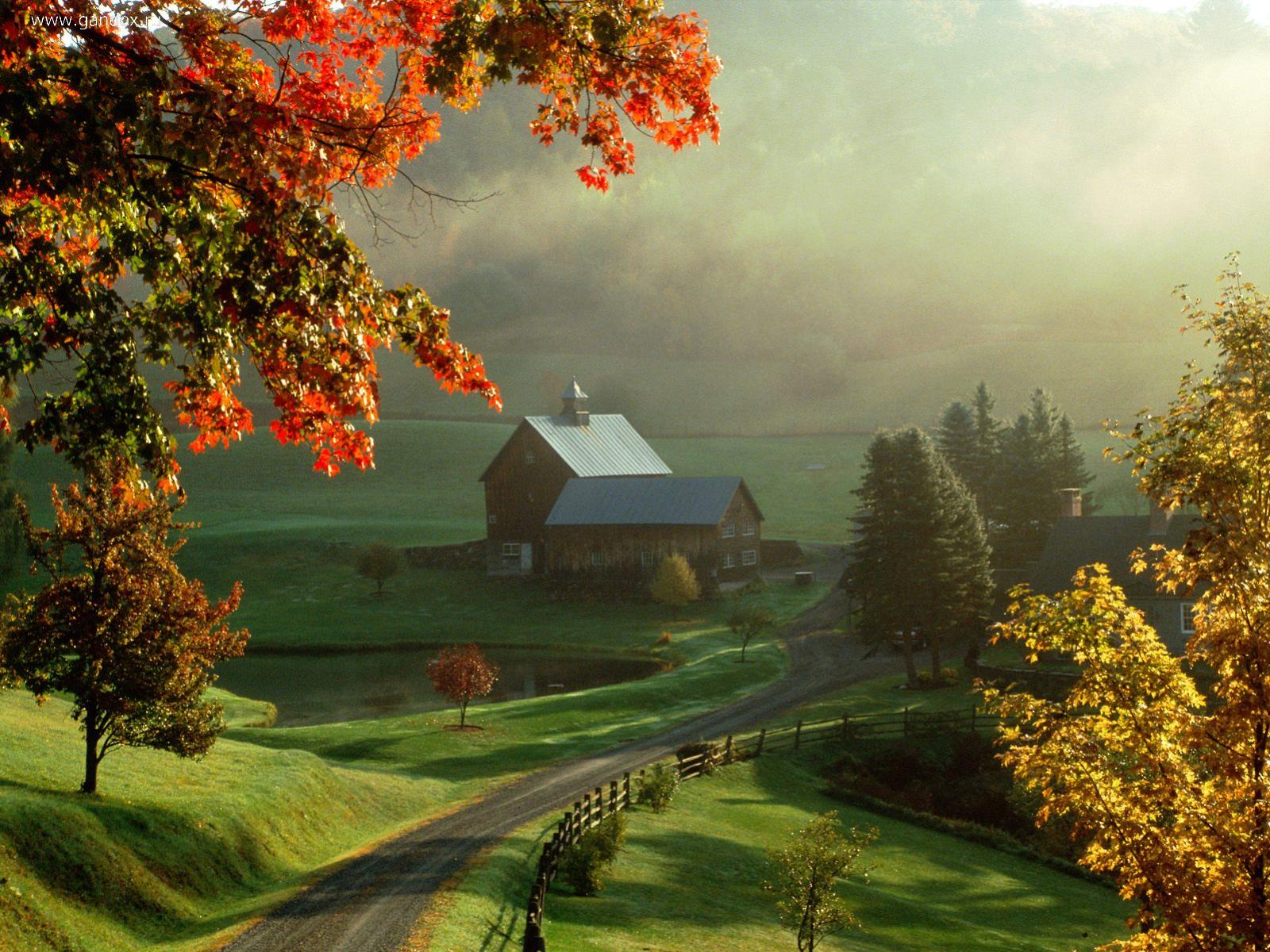 download desktop wallpaper small farm, very beautiful and high