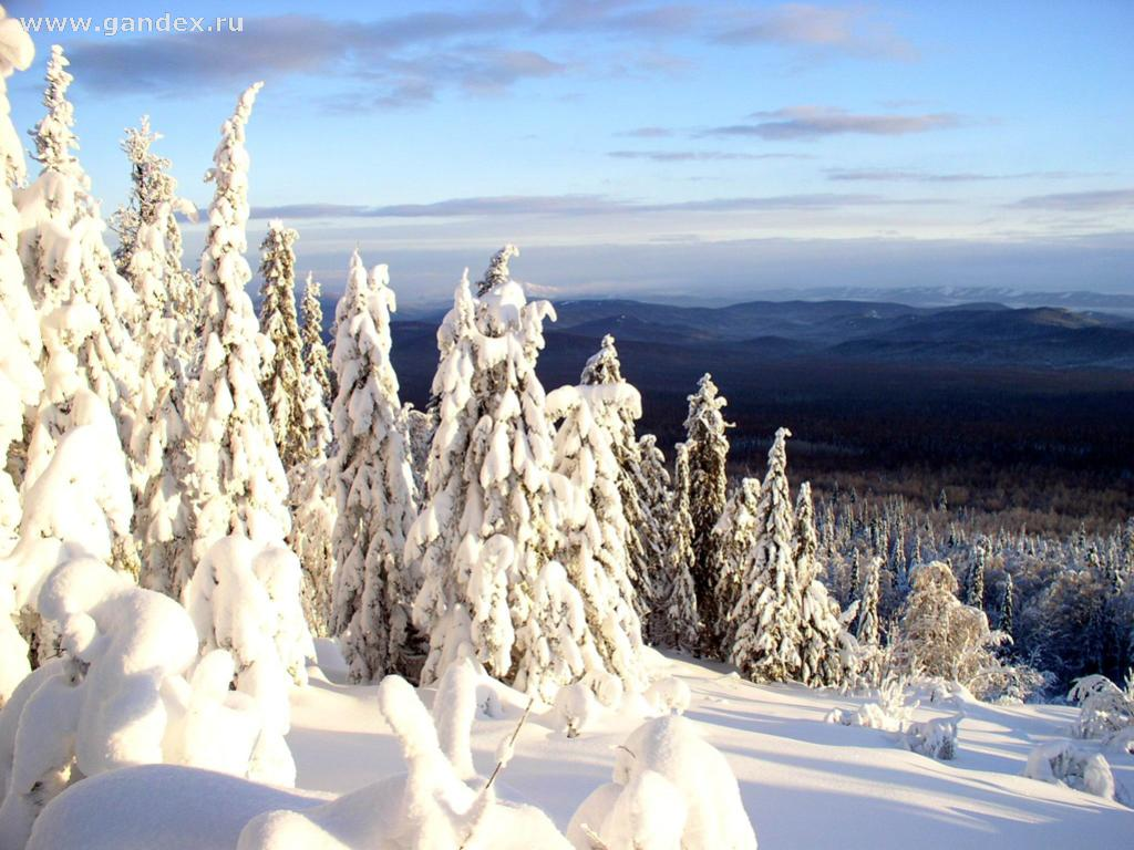 Winter in the Urals, desktop wallpapers, nature