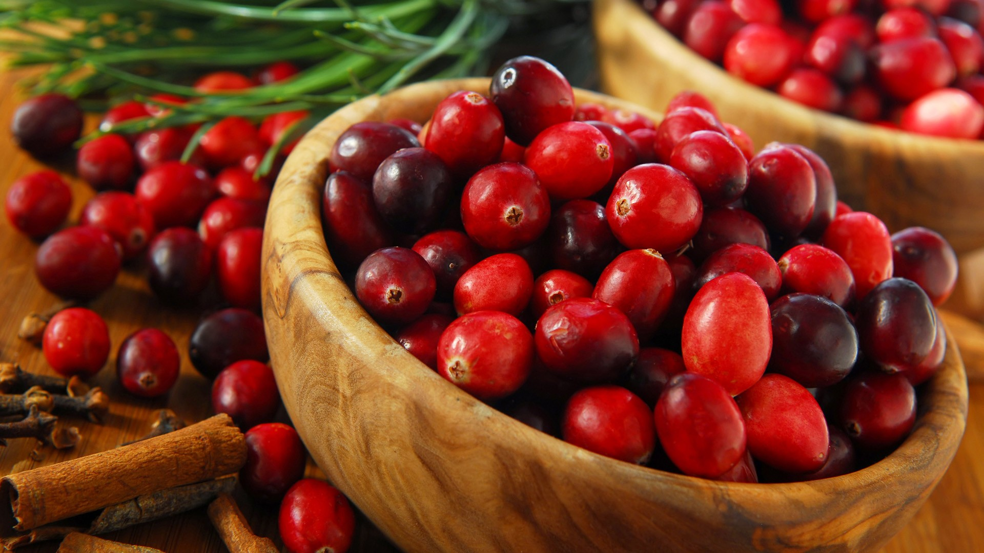 Cranberries in a basket