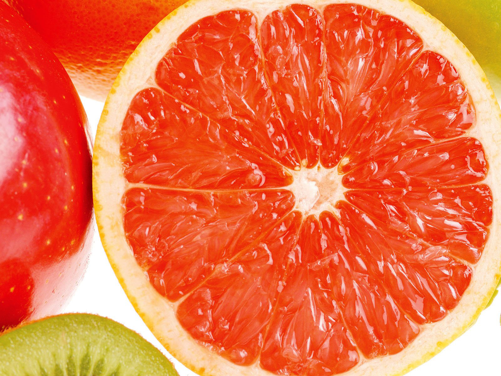 Juicy and bright wallpaper, the picture shows a grapefruit.