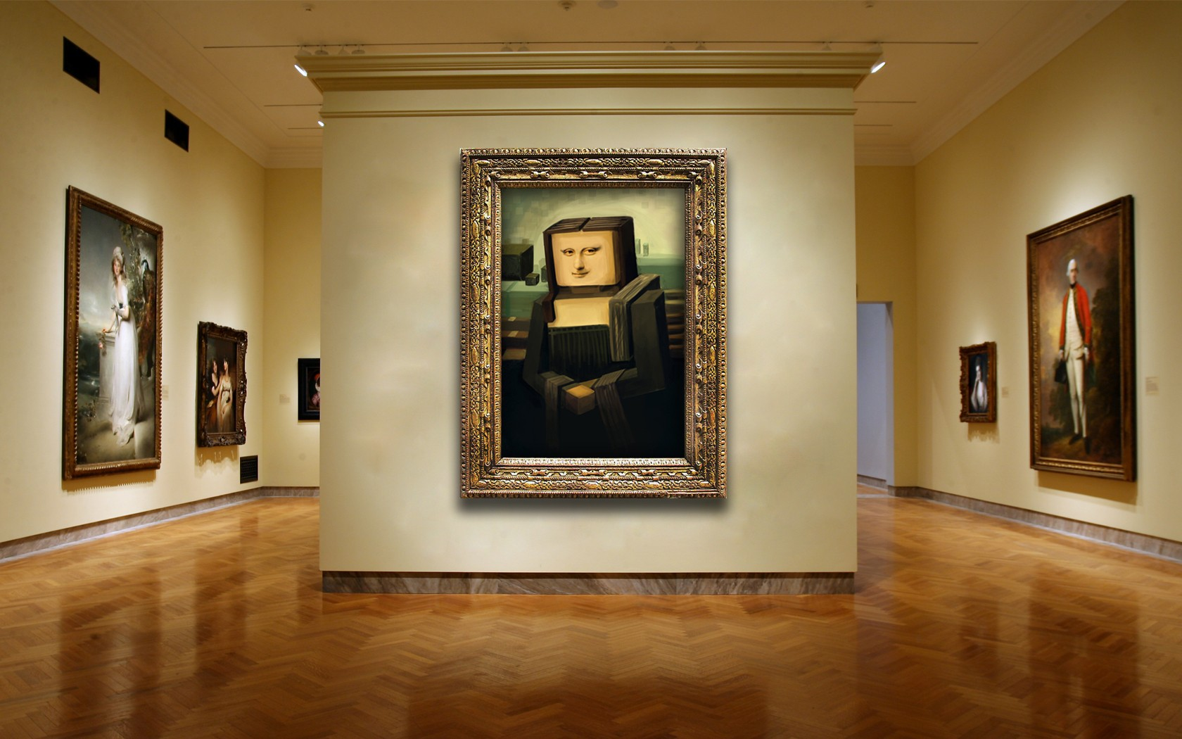 Square Mona Lisa